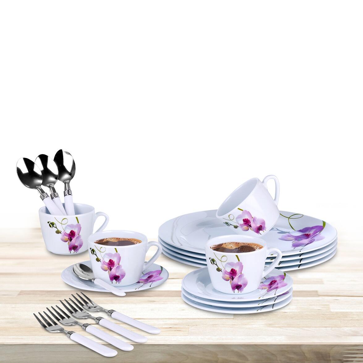 Kaffee-Service 'Orchidee', 20 Teile