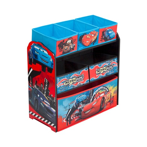 delta children disney cars aufbewahrungsregal mit 6 boxen. Black Bedroom Furniture Sets. Home Design Ideas