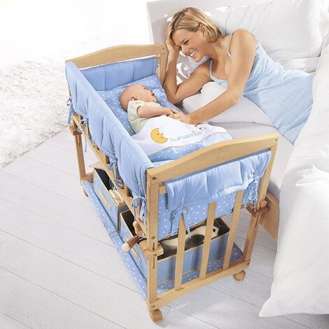 roba beistellbett mit ausstattung 4 in 1 40x80 cm online kaufen baby walz. Black Bedroom Furniture Sets. Home Design Ideas