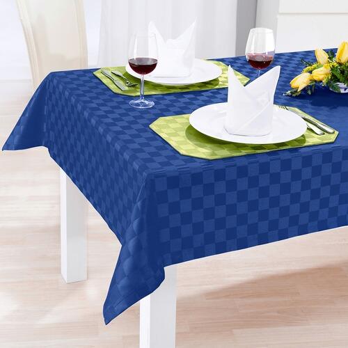jacquard tischdecke spezial blau online kaufen die. Black Bedroom Furniture Sets. Home Design Ideas