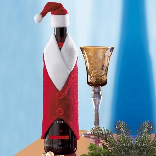 flaschen deko santa online kaufen die moderne hausfrau. Black Bedroom Furniture Sets. Home Design Ideas