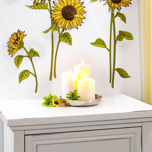wandsticker sonnenblumen 6 st ck online kaufen die. Black Bedroom Furniture Sets. Home Design Ideas