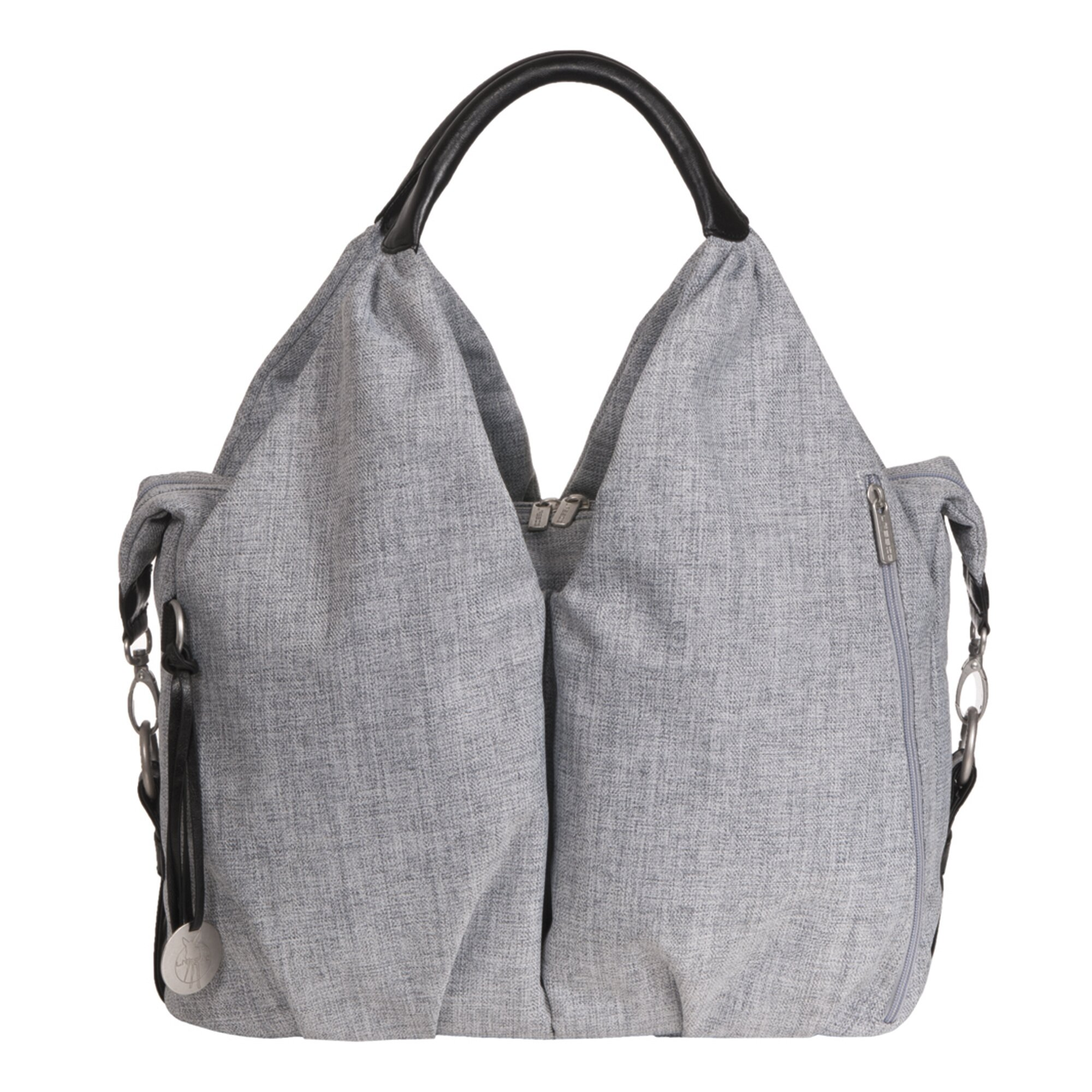 Green Label Wickeltasche Neckline Bag grau