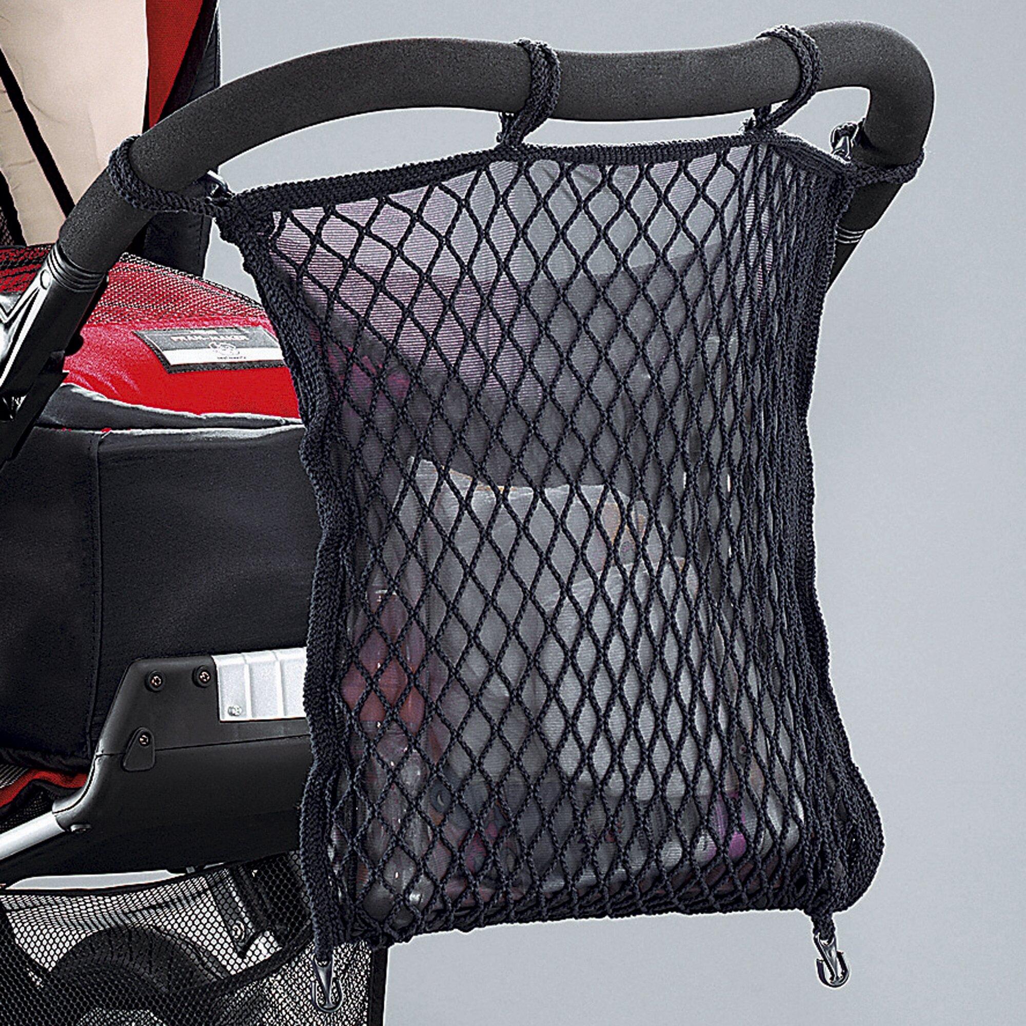 Sunnybaby Universal Einkaufsnetz mit Sichtschutz für Kinderwagen und Buggy schwarz