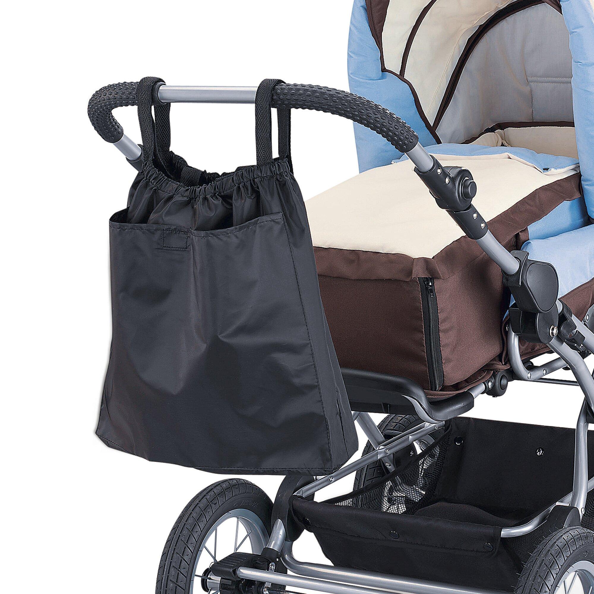 Reer Einkaufstasche 2in1 für Kinderwagen und Buggy schwarz