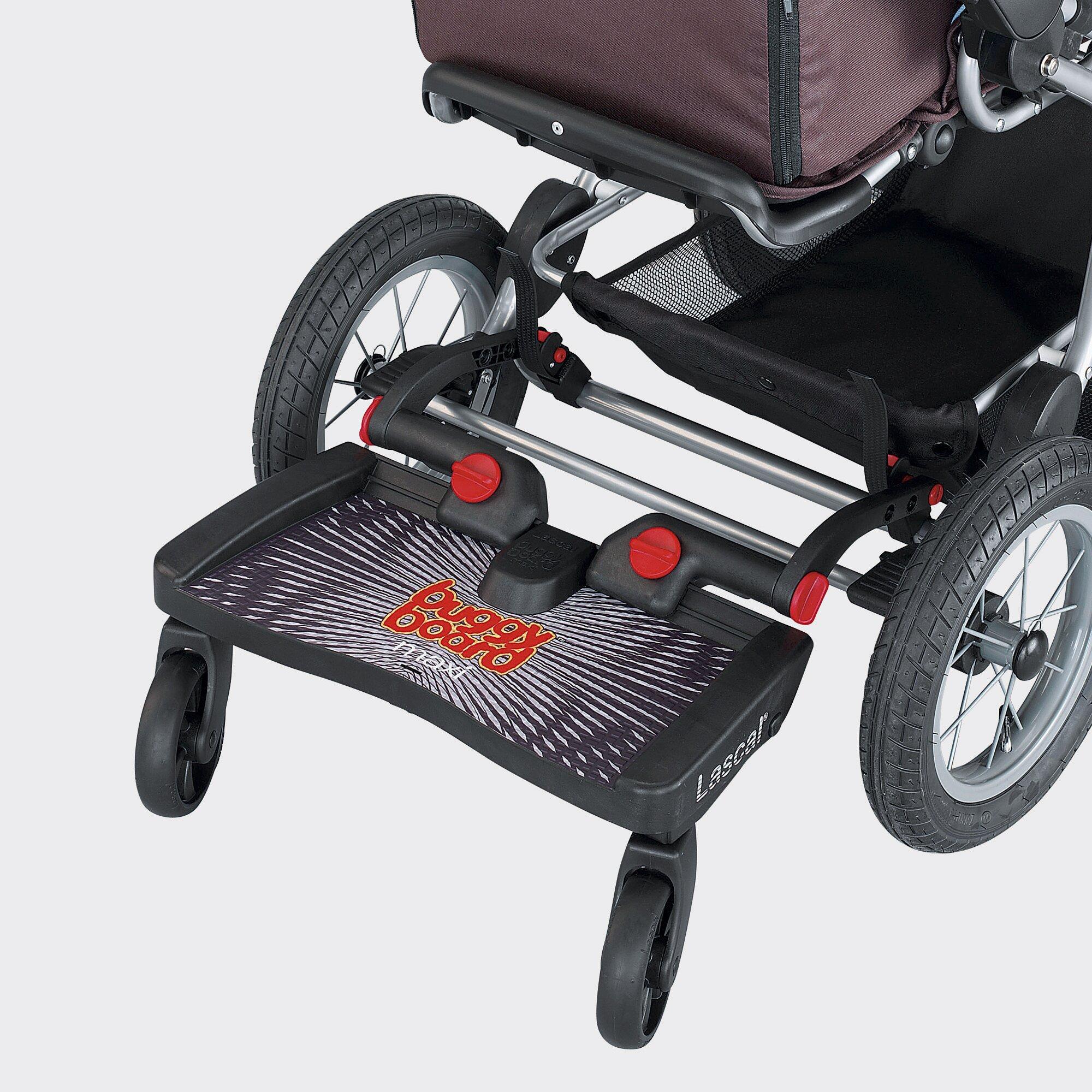 Lascal Buggy-Board Maxi für Kinderwagen, Kinderwagen Jogger, Buggy schwarz