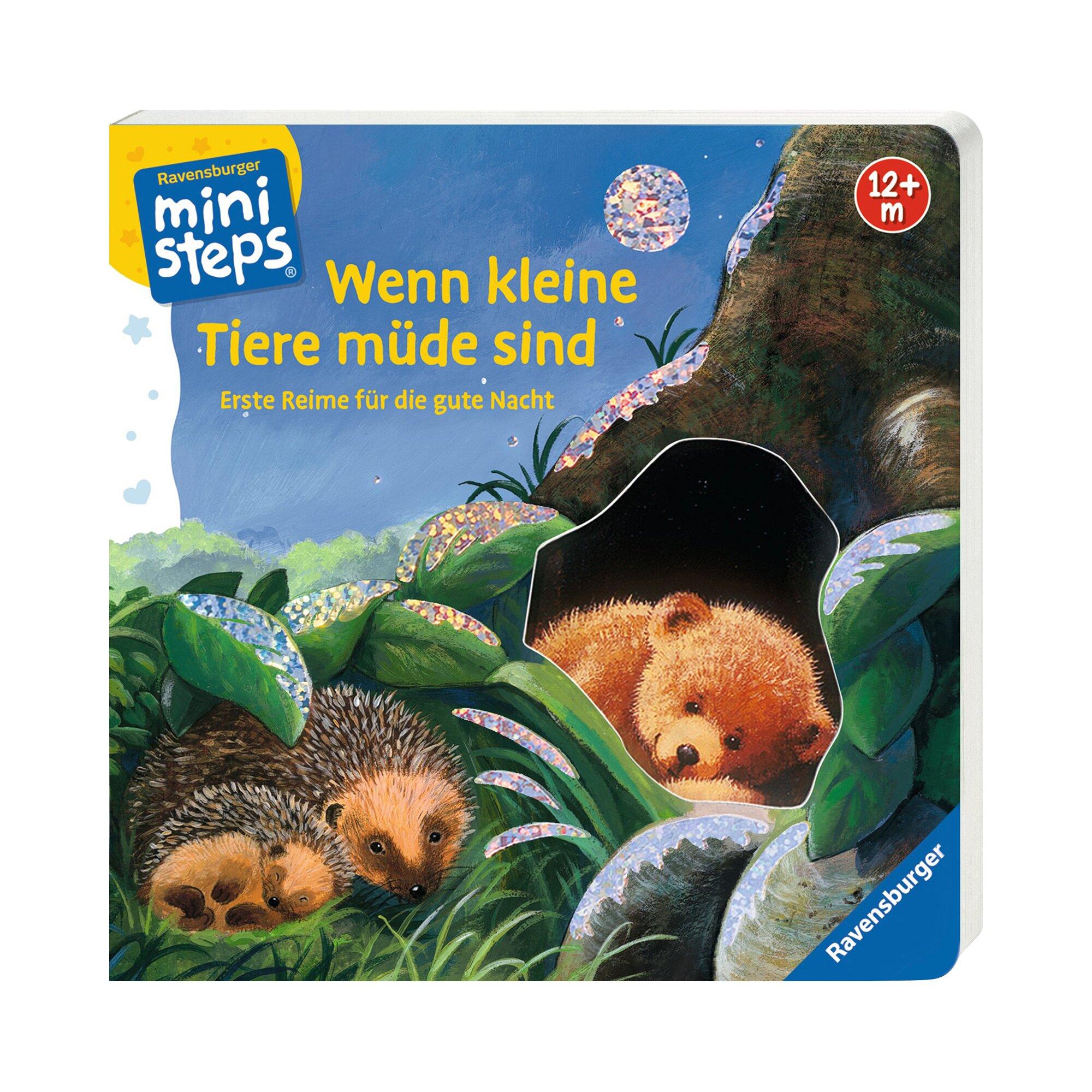 Ministeps Pappbilderbuch Wenn kleine Tiere müde sind