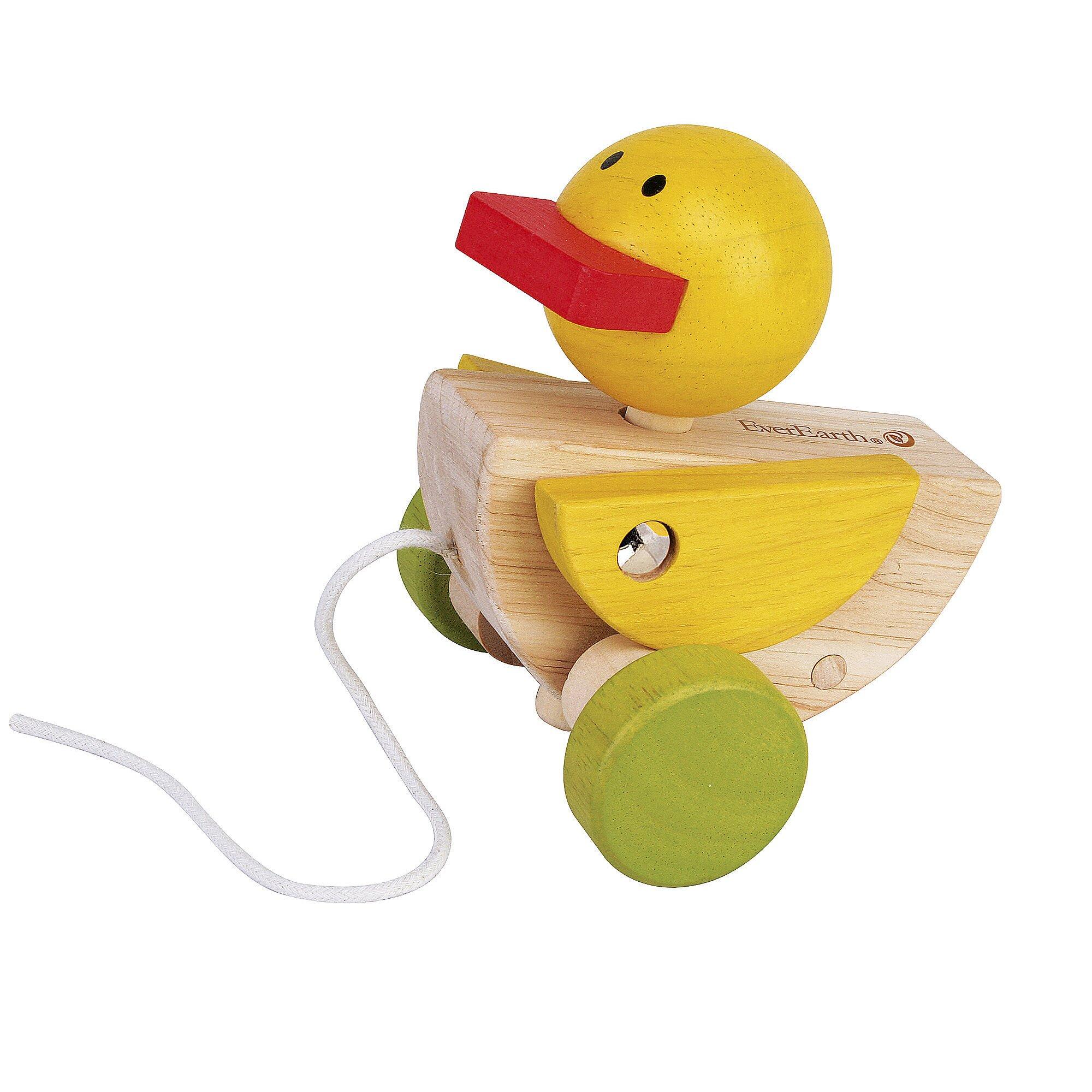 Everearth Nachziehspielzeug Ente aus Holz