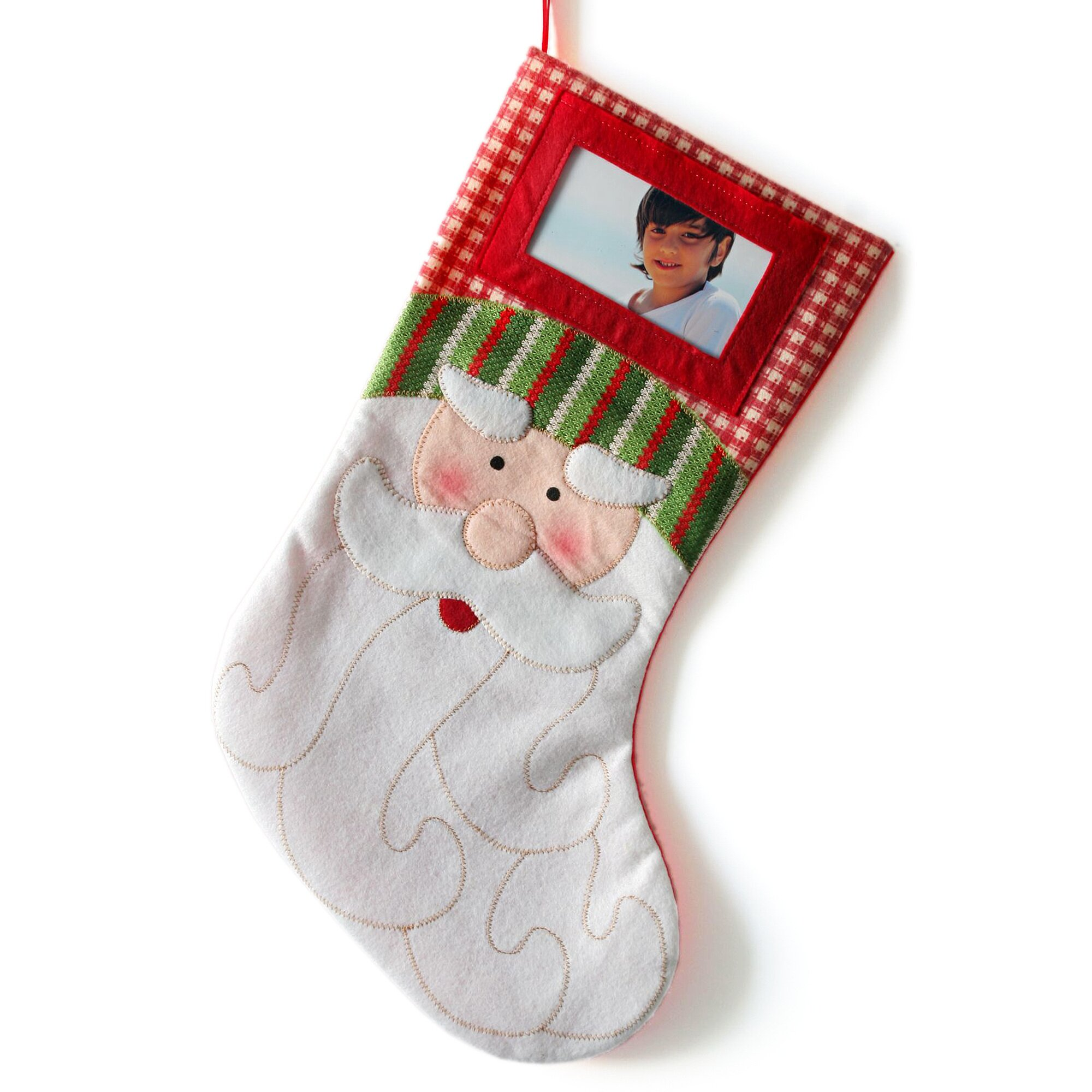 Weihnachtsstrumpf mit Bildern
