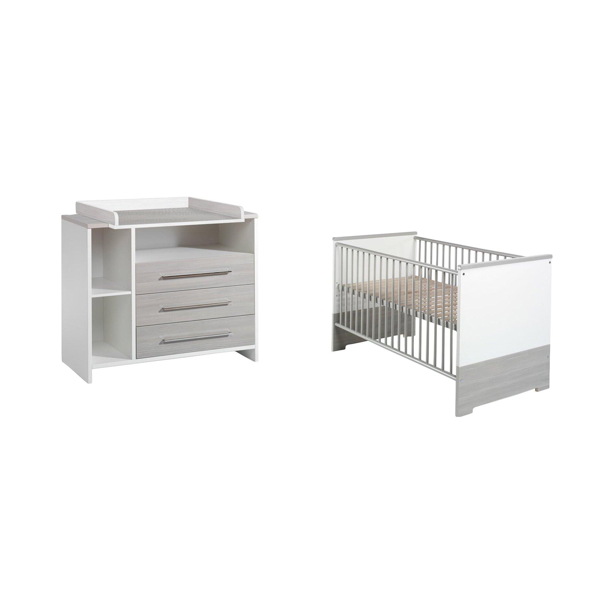 Schardt 2-tlg. Babyzimmer Eco Silber
