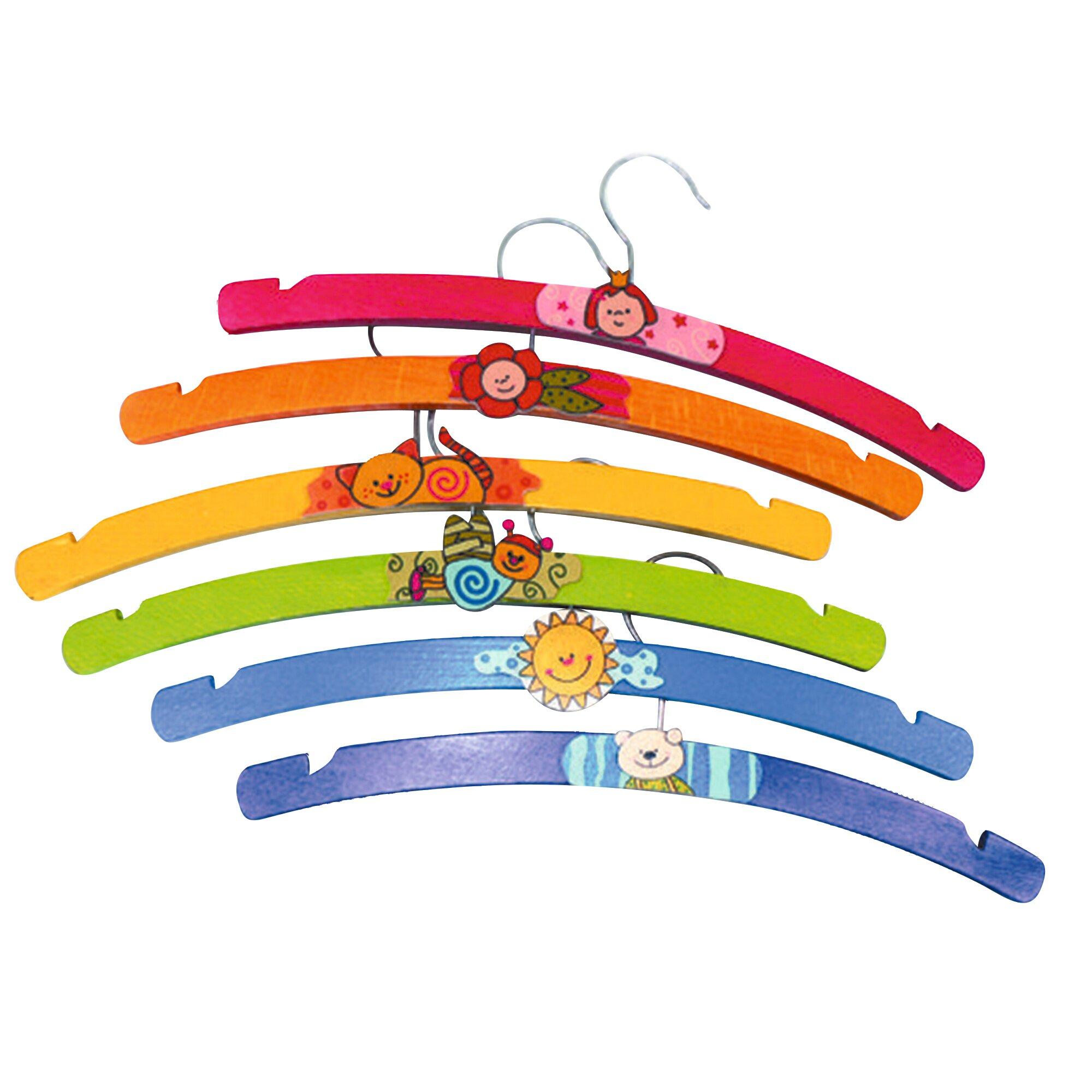 Hess Spielzeug Kleiderbügel 6-tlg.