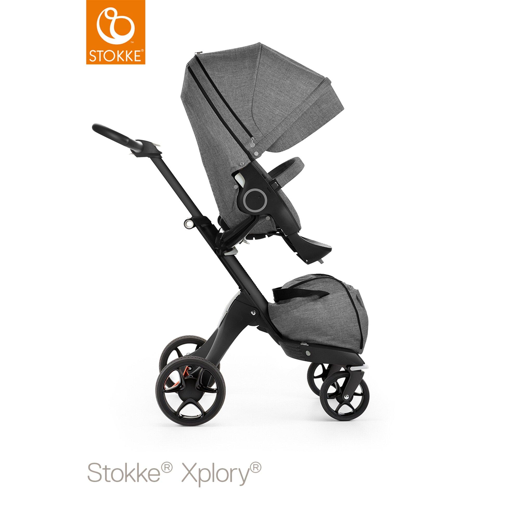 xplory-v5-kinderwagen-black-design-2017-mit-sonnenschirm-und-getrankehalter-grau, 799.99 EUR @ babywalz-de