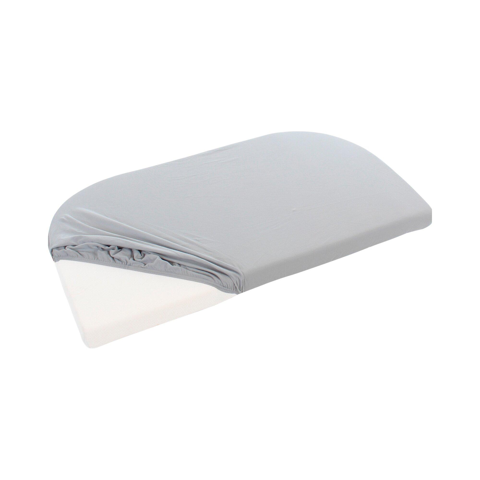 Babybay® Jersey-Spannbetttuch für Beistellbett Maxi 89x50 cm grau