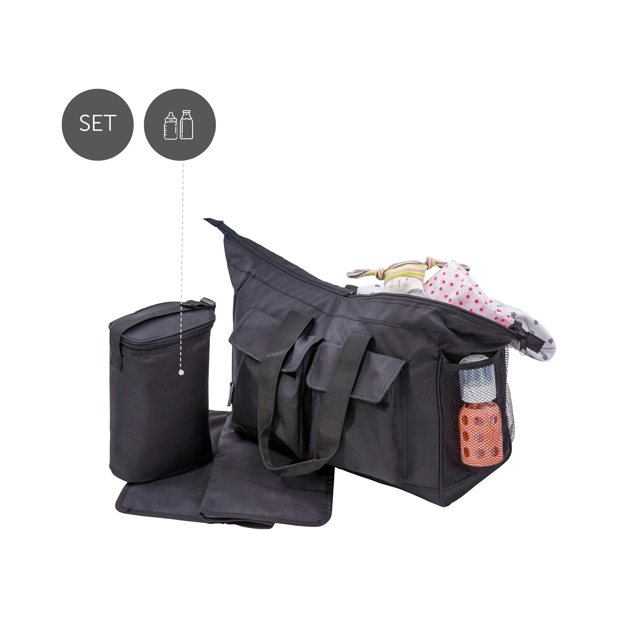 hauck-wickeltasche-care-me-schwarz