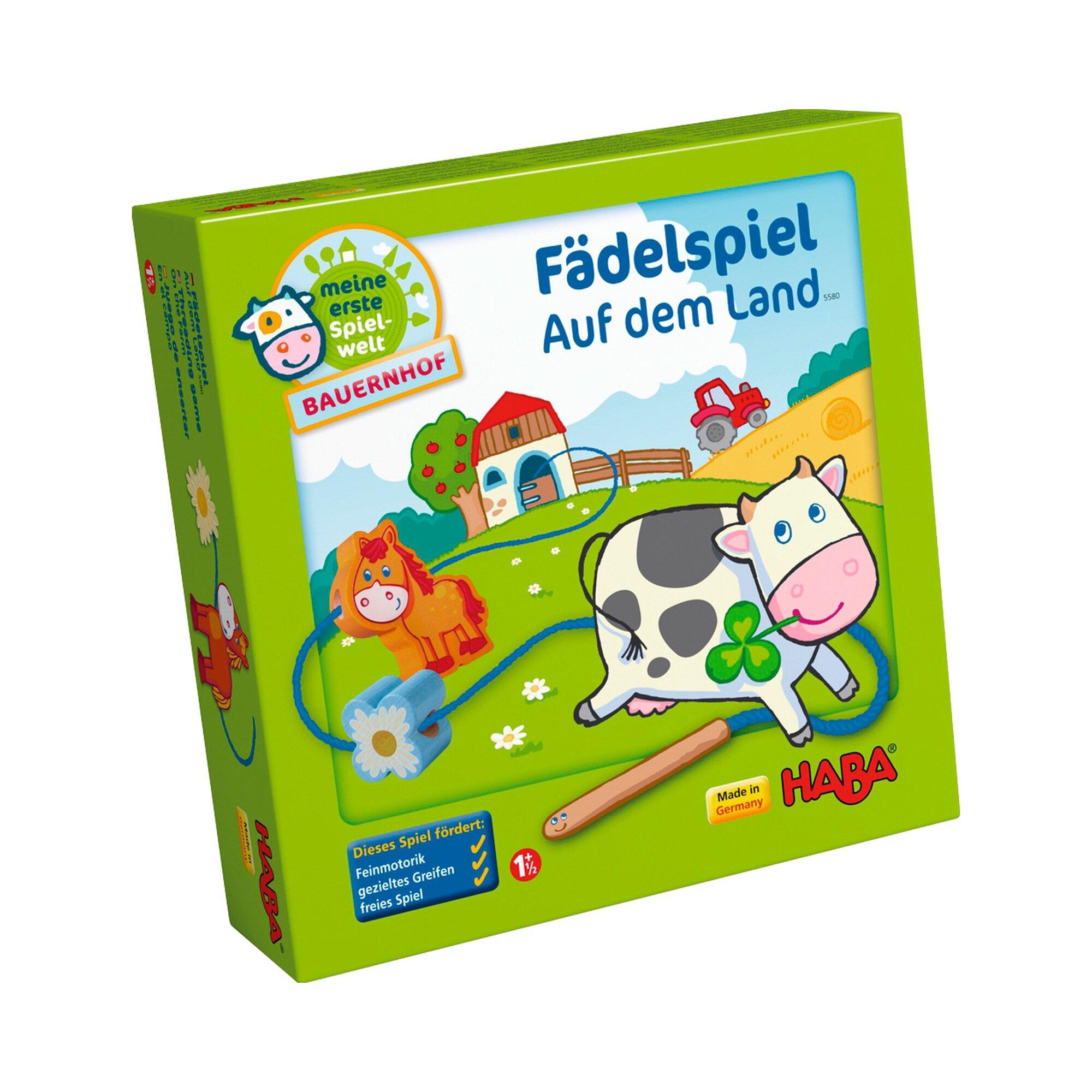 Haba Konzentrationsspiel - Fädelspiel Bauernhof