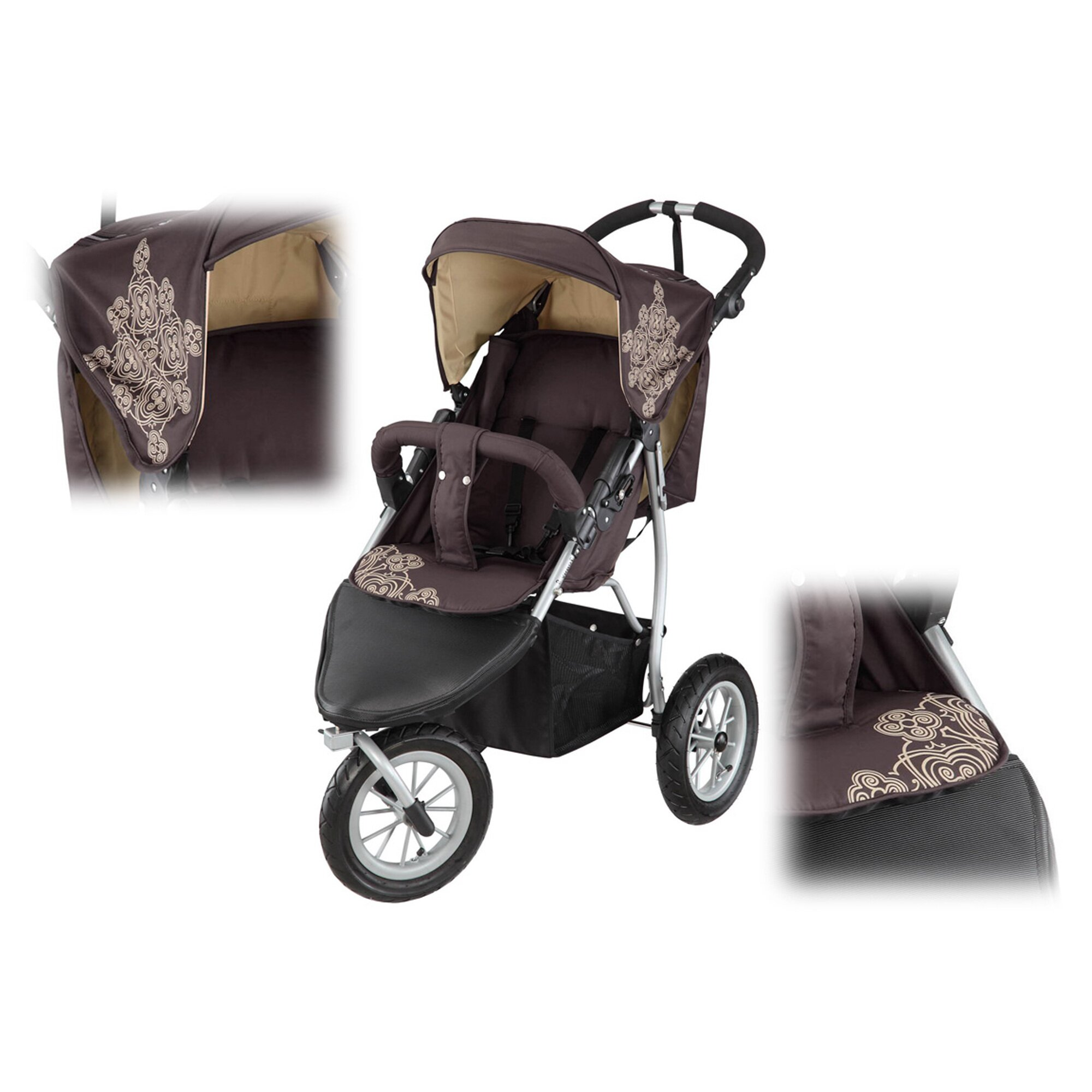 knorr-baby-kinderwagen-sportwagen-joggy-s-braun, 109.99 EUR @ babywalz-de