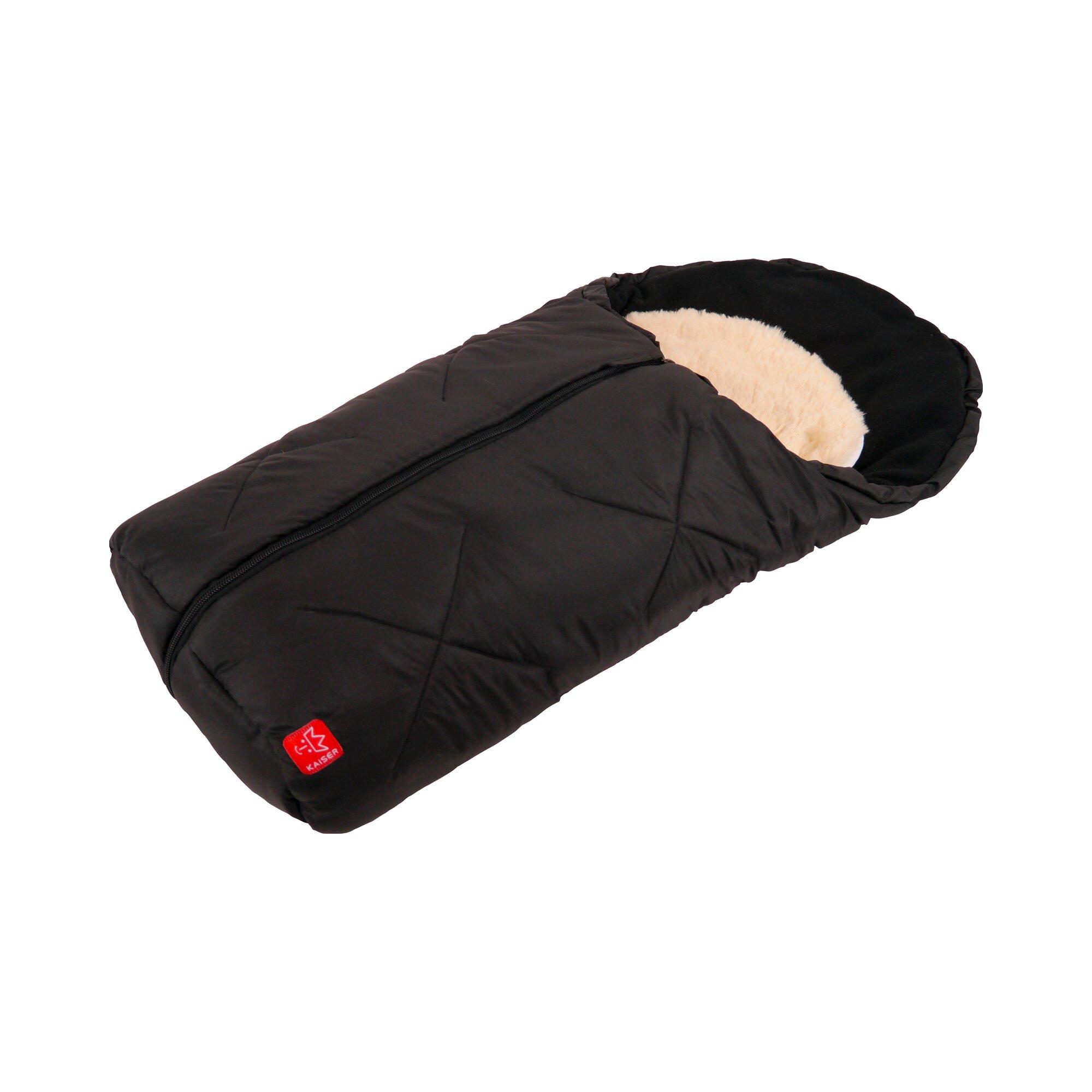 kaiser-universal-winter-fu-sack-mit-lammfelleinlage-little-sheepy-fur-babyschale-autositz-tragewanne-schwarz