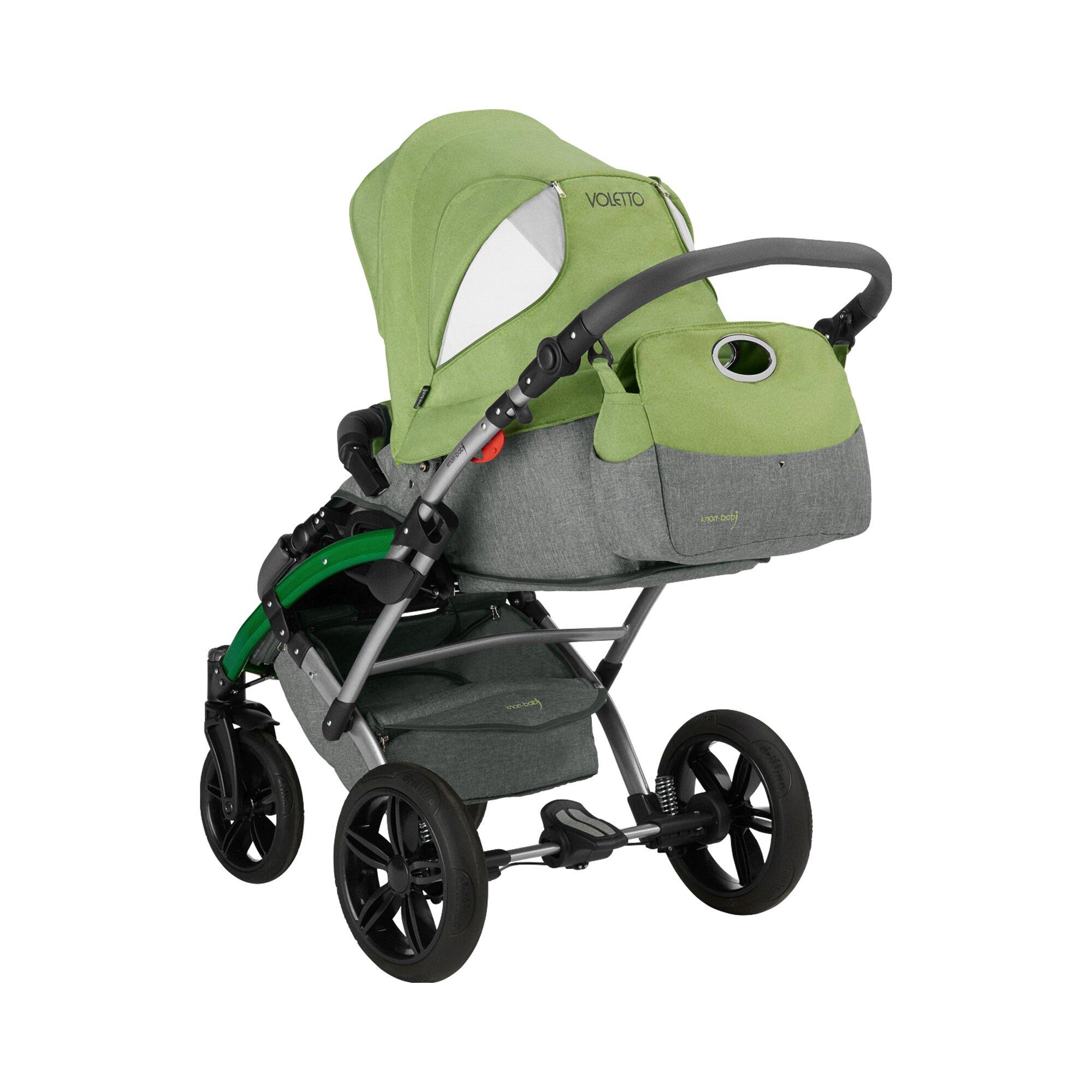 knorr-baby-voletto-happy-colour-kombikinderwagen-mit-wickeltasche-gruen