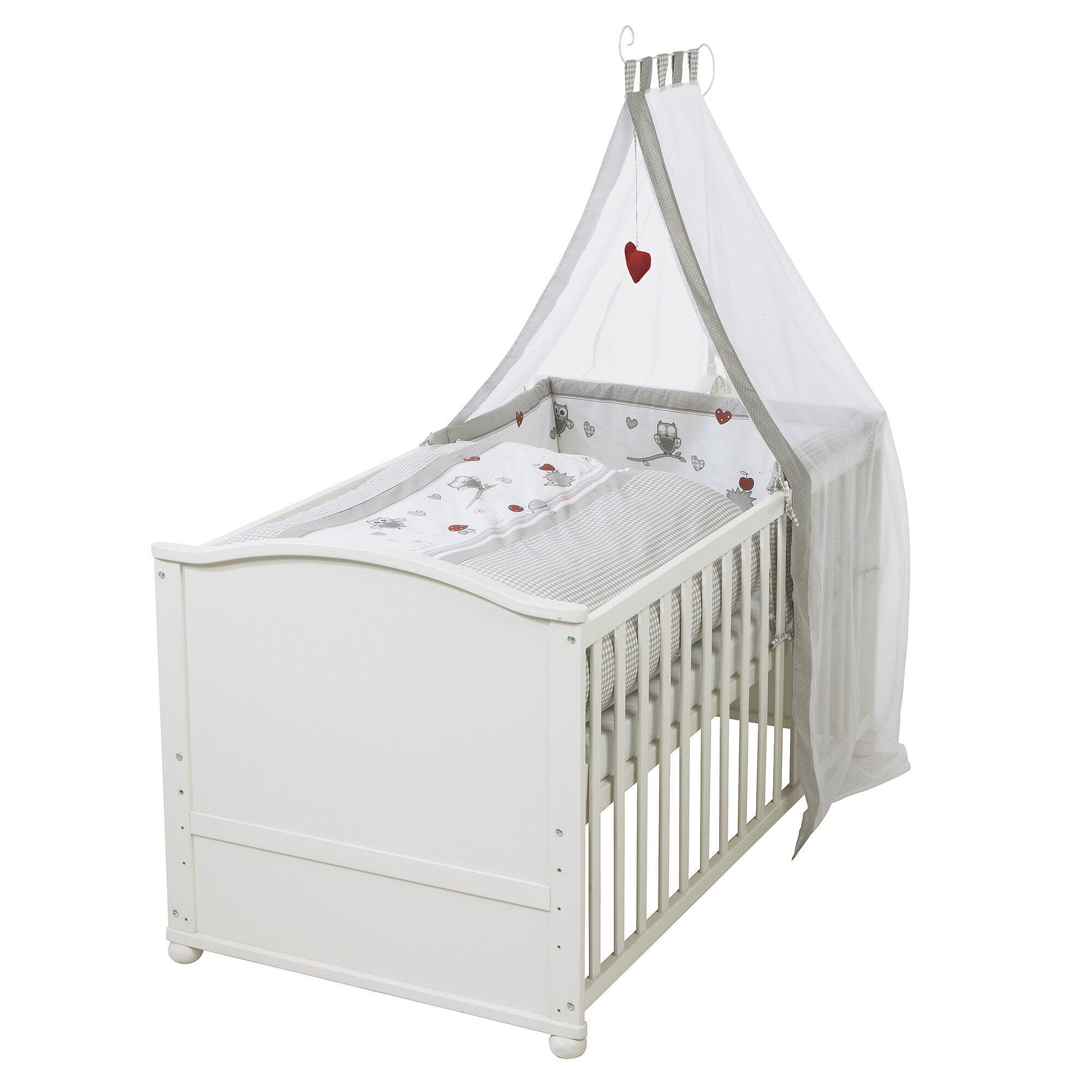 Roba Babybett mit Ausstattung Adam & Eule 70x140 cm