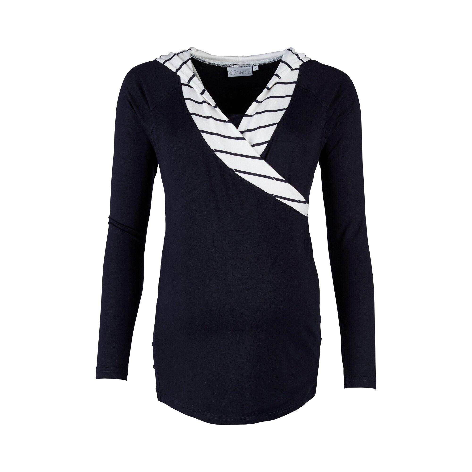 We Love Basics Still-Shirt langarm Wellness marine