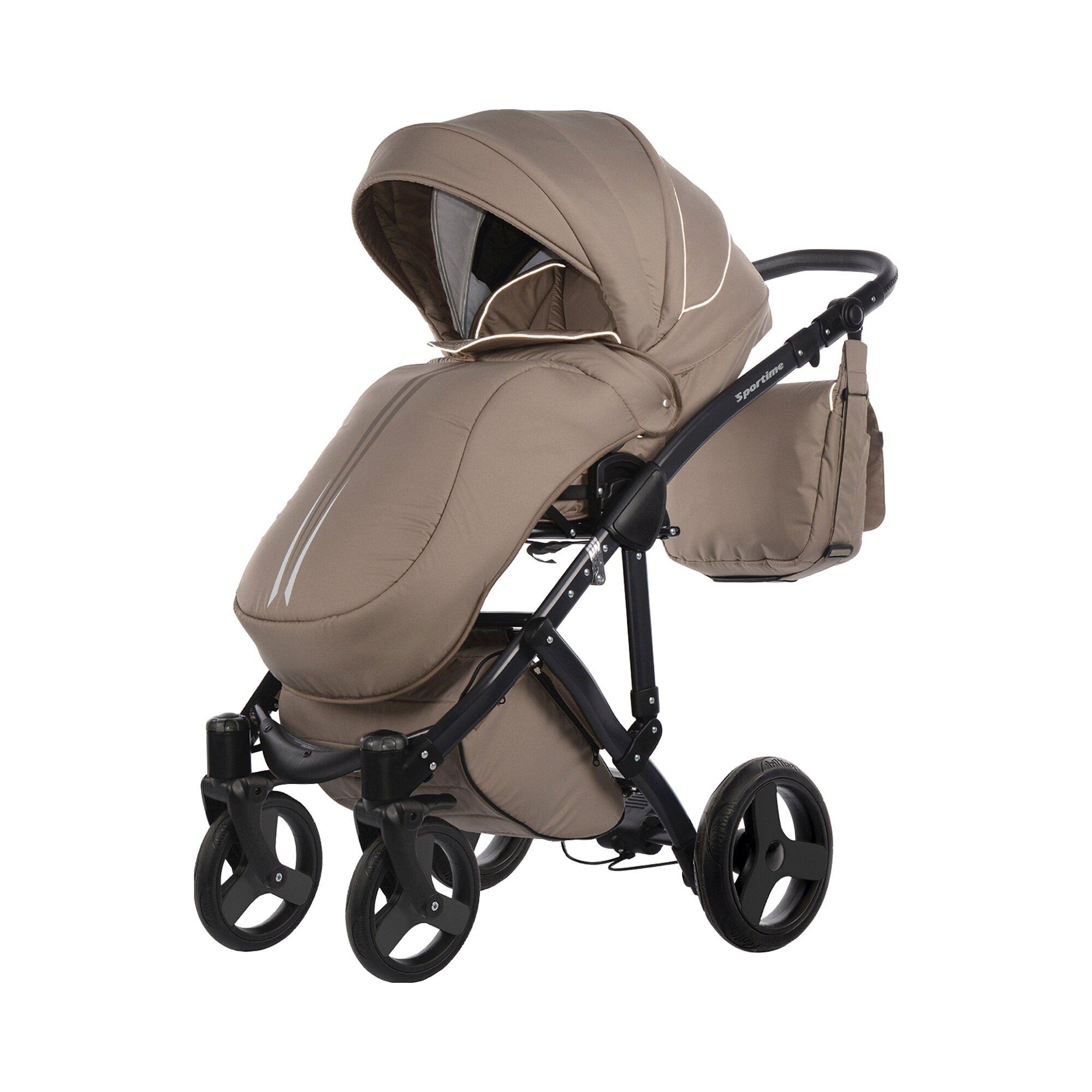 knorr-baby-sportime-kombikinderwagen-mit-wickeltasche-beige