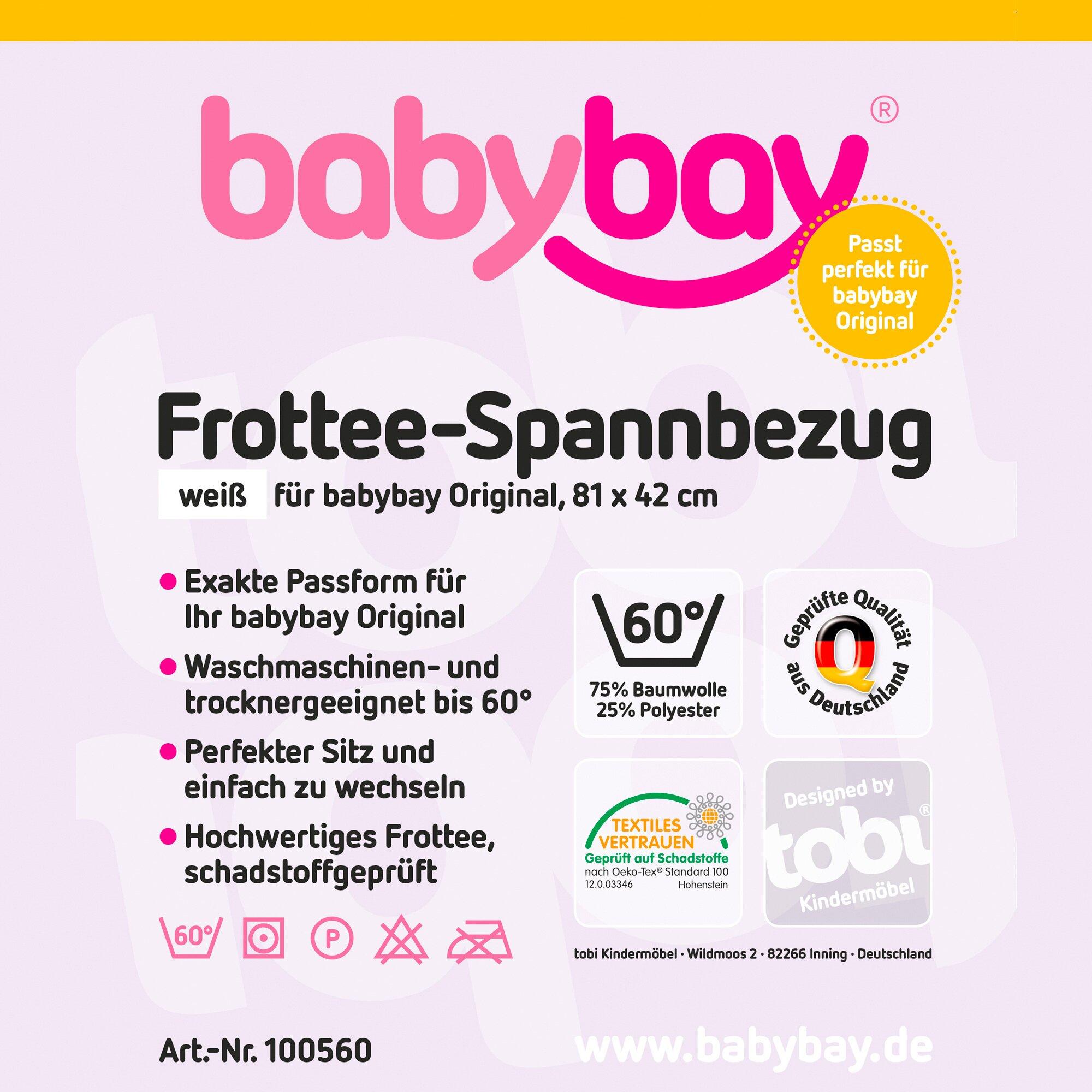 Babybay® Frottee-Spannbetttuch Original 81x43 cm