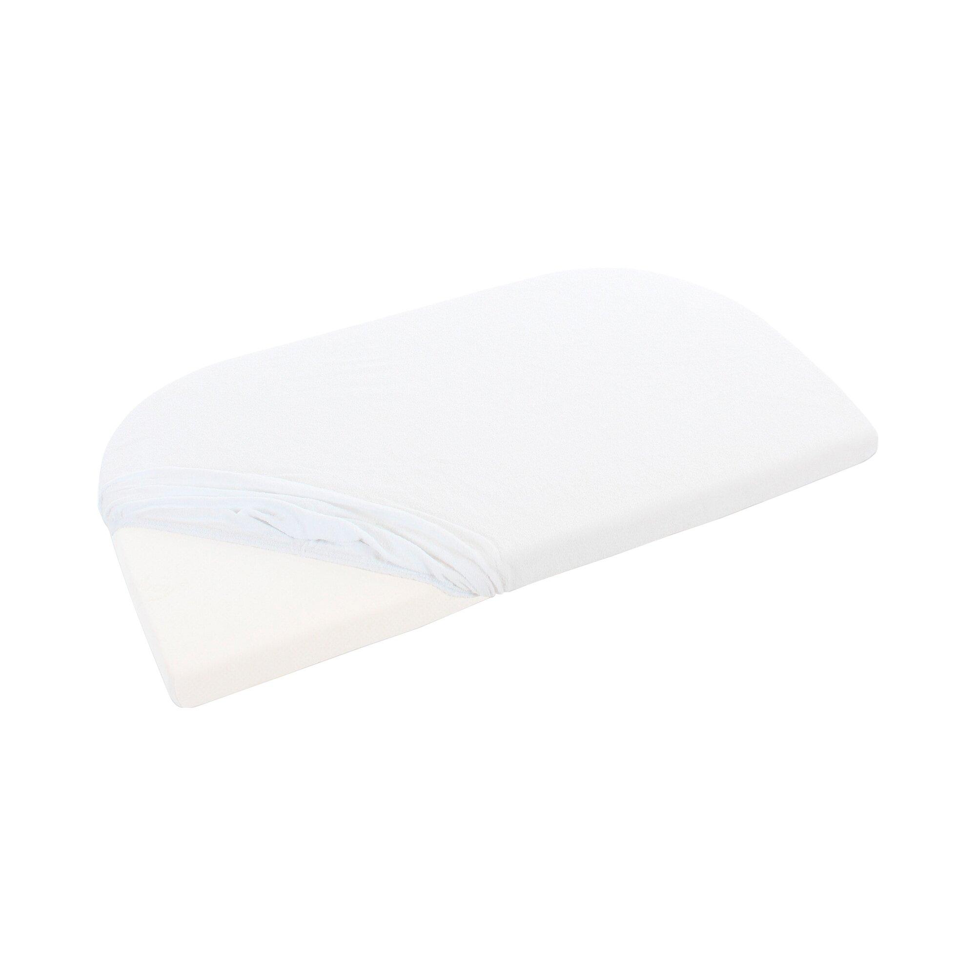 Babybay® Frottee-Spannbetttuch Original 81x42 cm weiss
