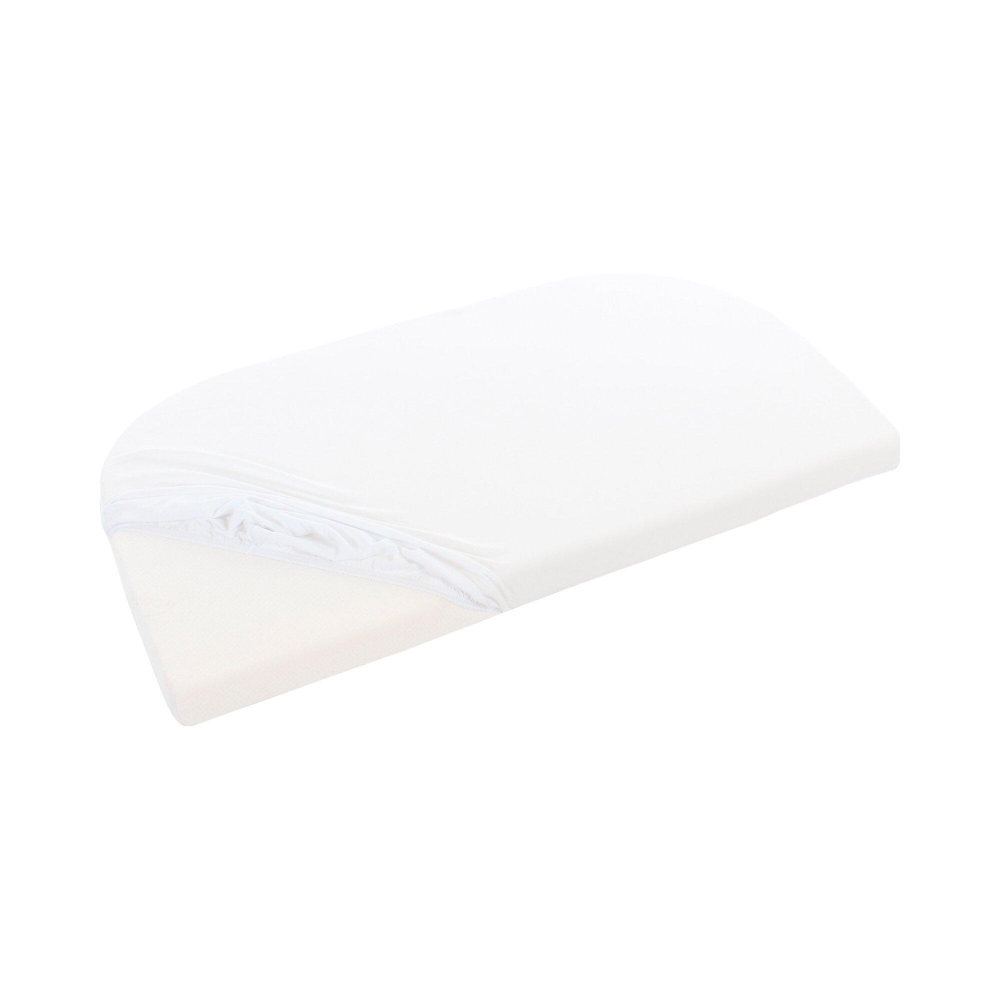 Babybay® Jersey-Spannbetttuch für Beistellbett Original 81x42 cm weiss