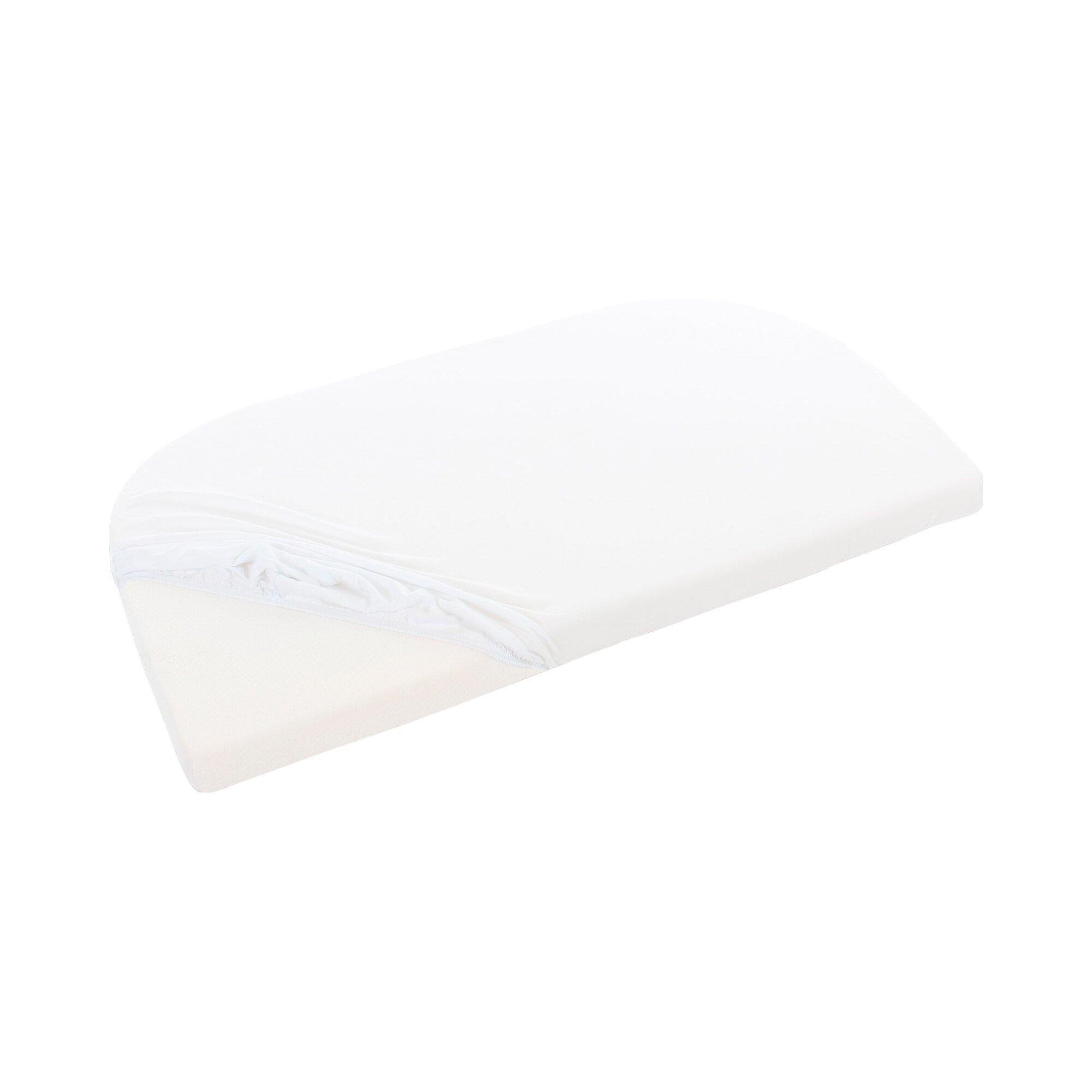 Babybay® Jersey-Spannbetttuch für Beistellbett Maxi 89x50 cm weiss