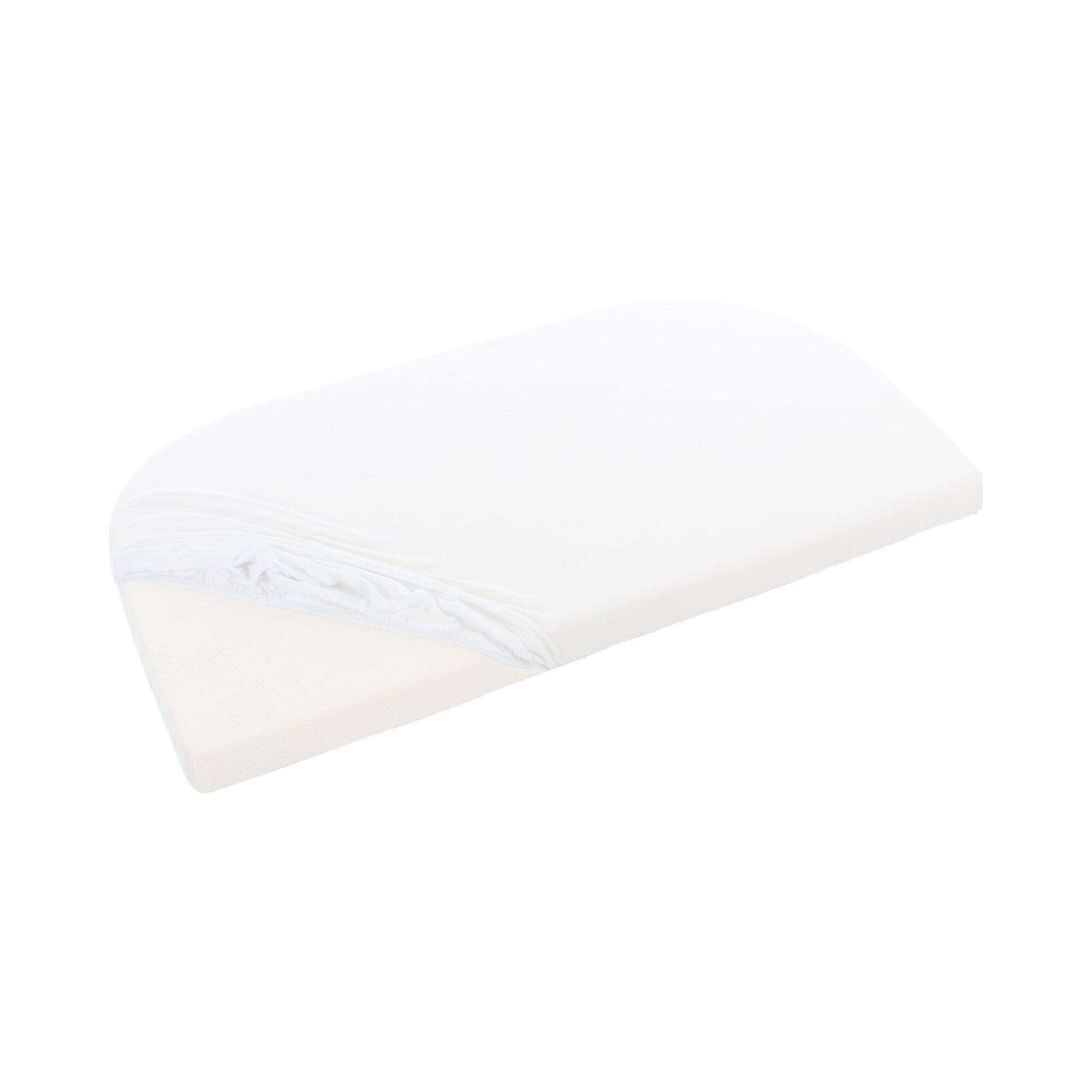 Babybay® Jersey-Spannbetttuch Maxi XXL 89x70 cm weiss Preisvergleich