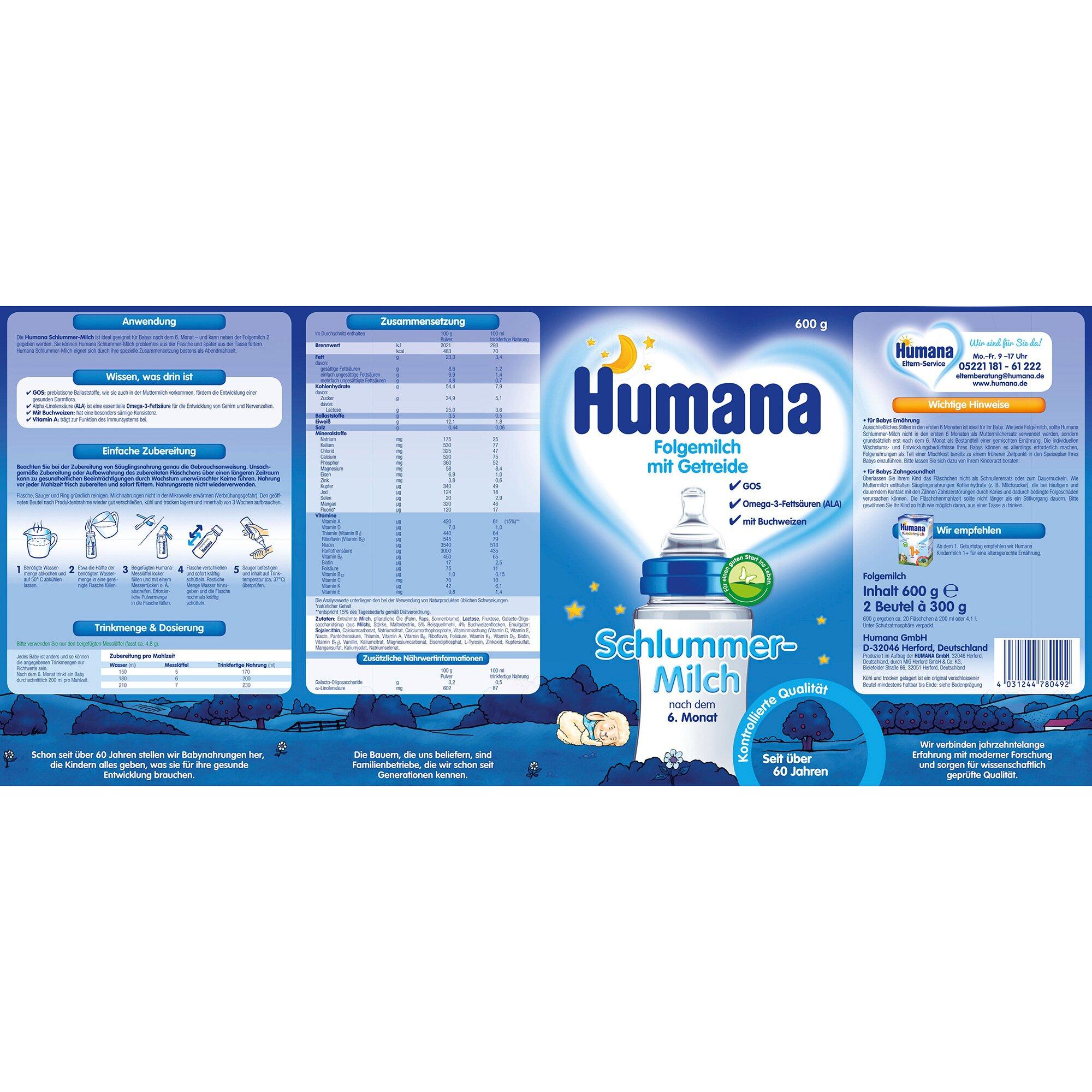 humana-schlummermilch