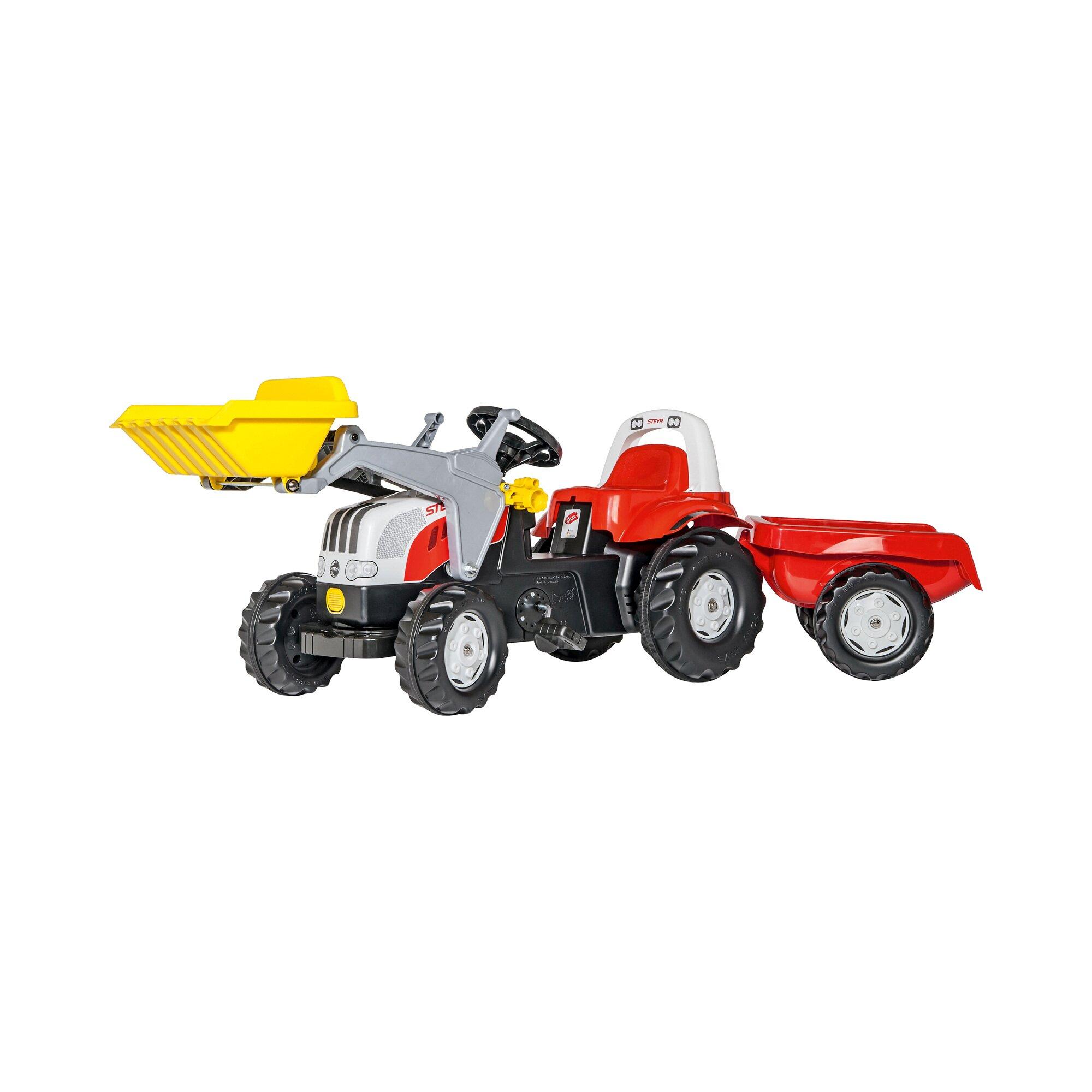 Rolly Toys® Trettraktor rollyKid Steyr mit Frontlader und Anhänger