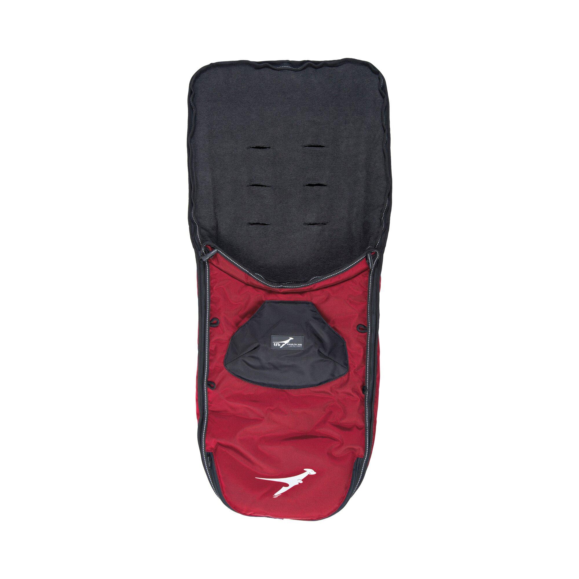 Tfk Winter-Fußsack für Kinderwagen Sportwagen Joggster III, Joggster Twist, Twinner Twist, Buggster S, Joggster X, X II rot