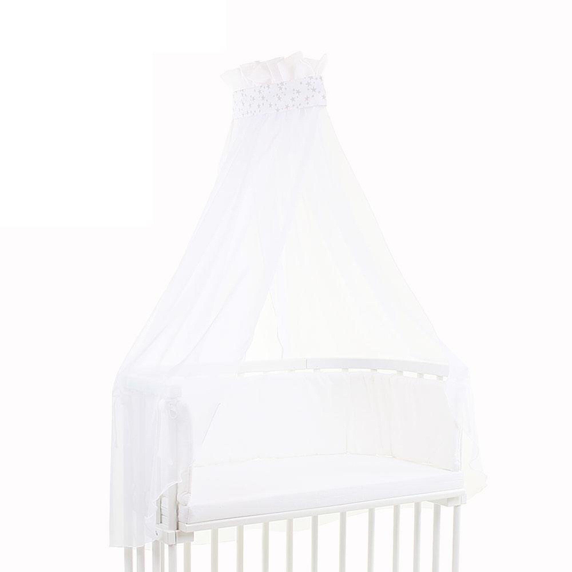 babybay-betthimmel-pique-mit-banderole-grau