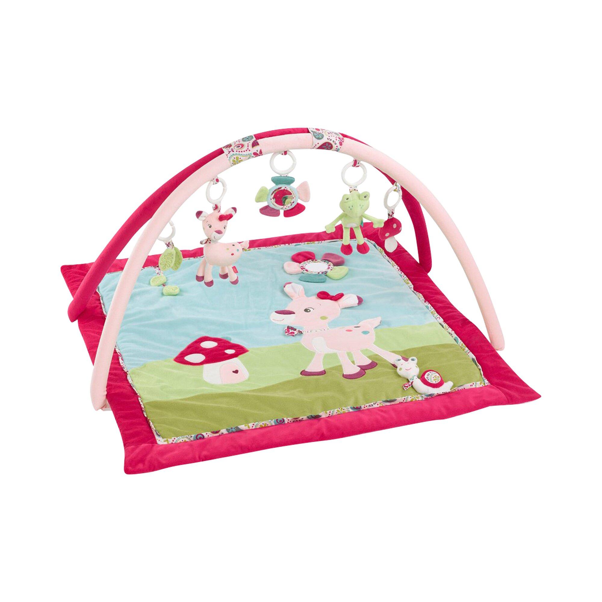 Fehn Spielbogen mit 3-D-Activity-Decke Reh Sweetheart mehrfarbig