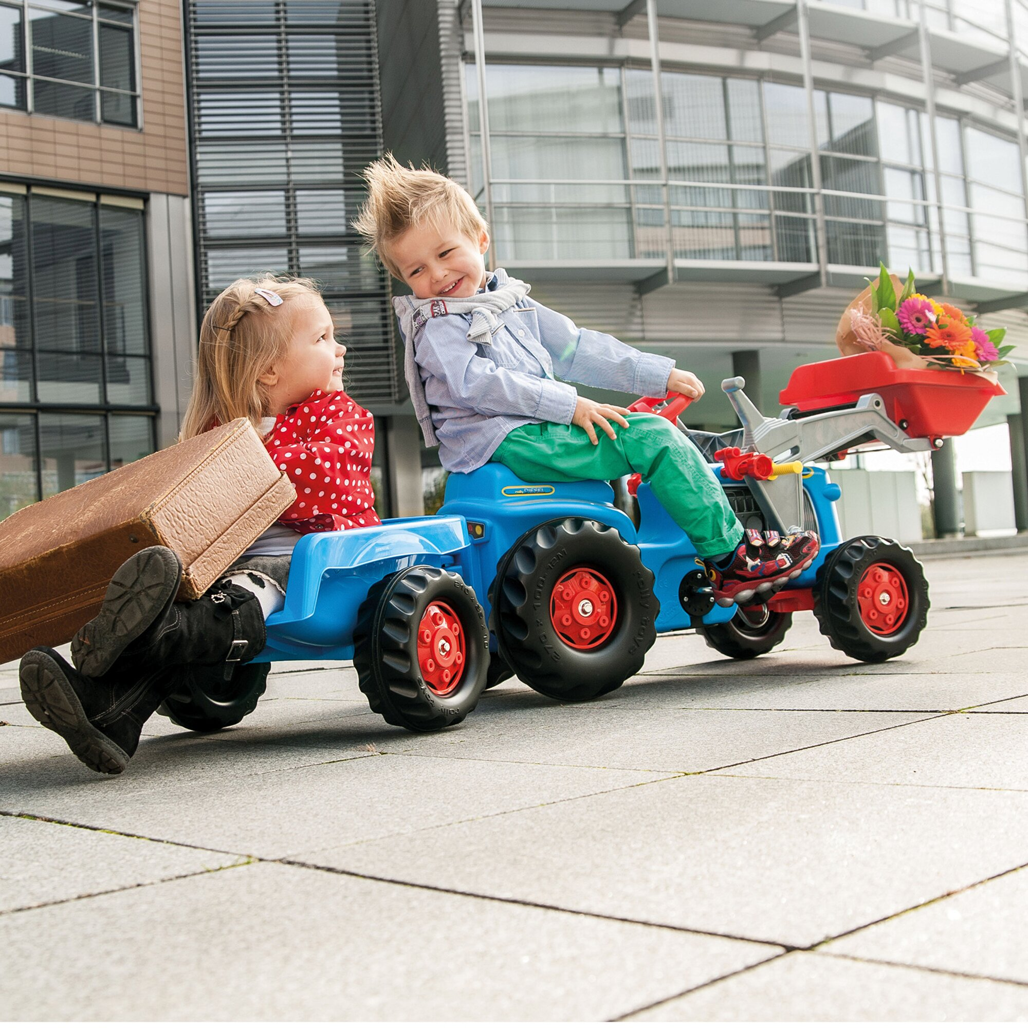 rolly-toys-trettraktor-rolly-kiddy-classic-mit-frontlader-und-anhanger