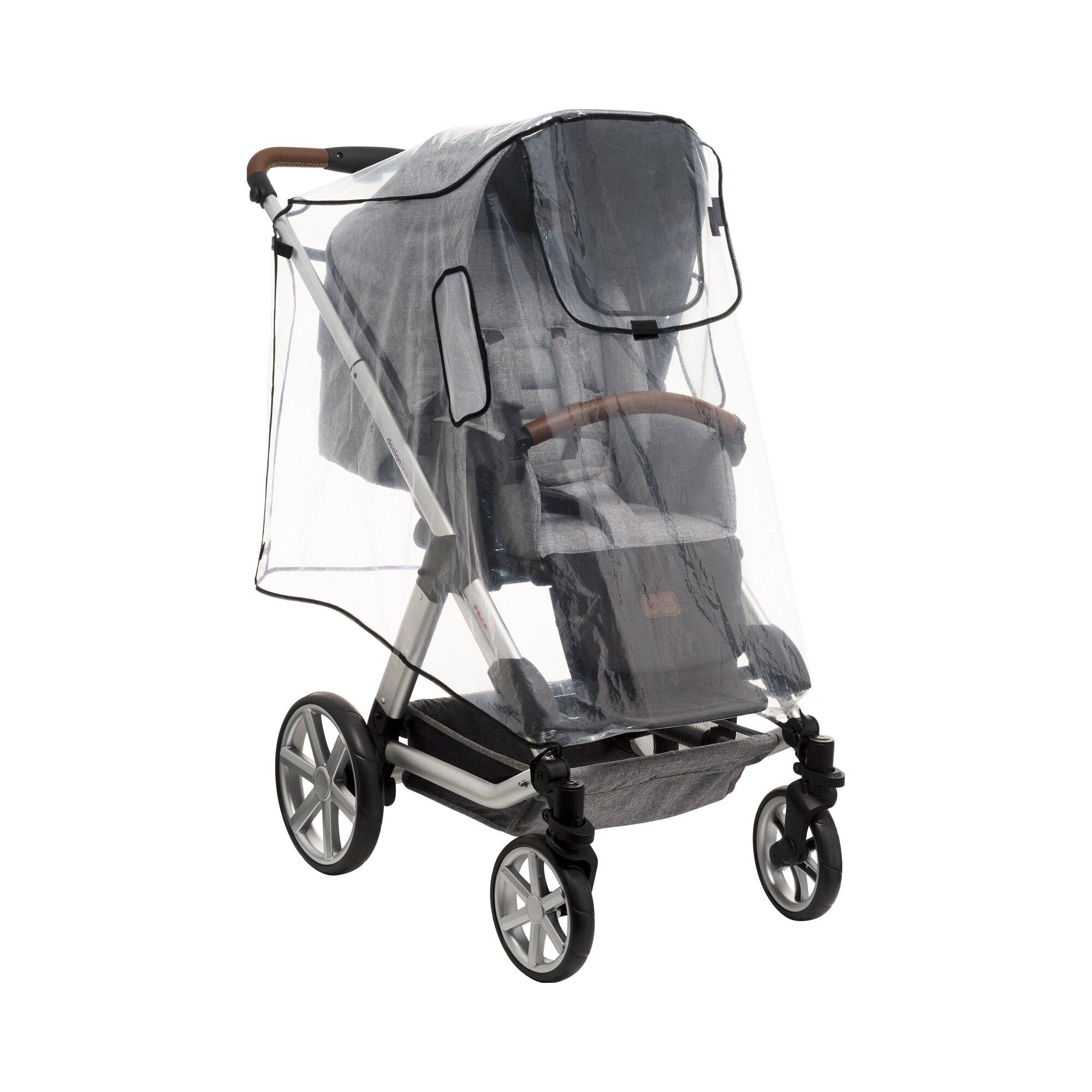 Reer Universal Regenschutz XL für Kinderwagen, Buggy transparent
