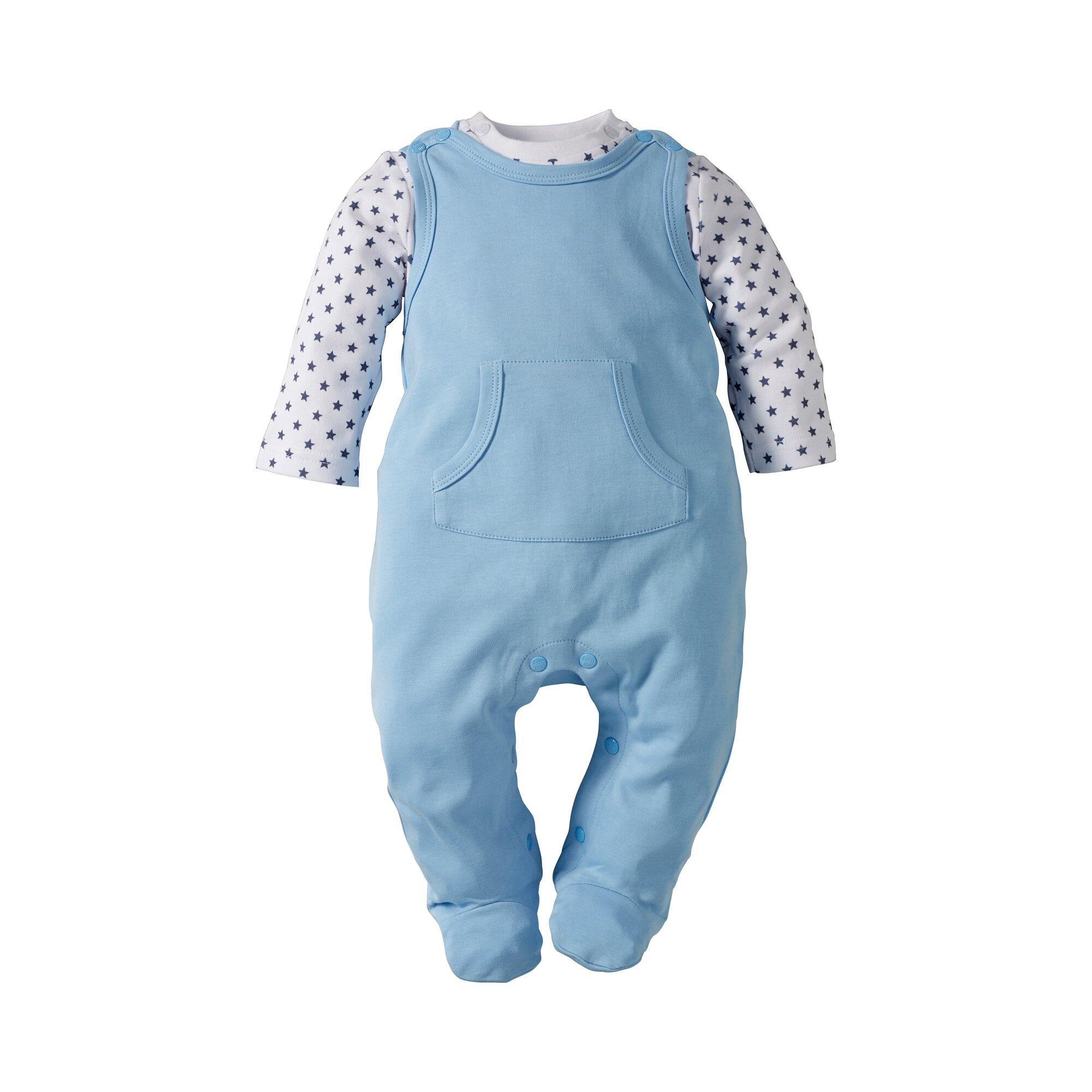 basics-stramplerset-strampler-shirt-blau-50-62-74