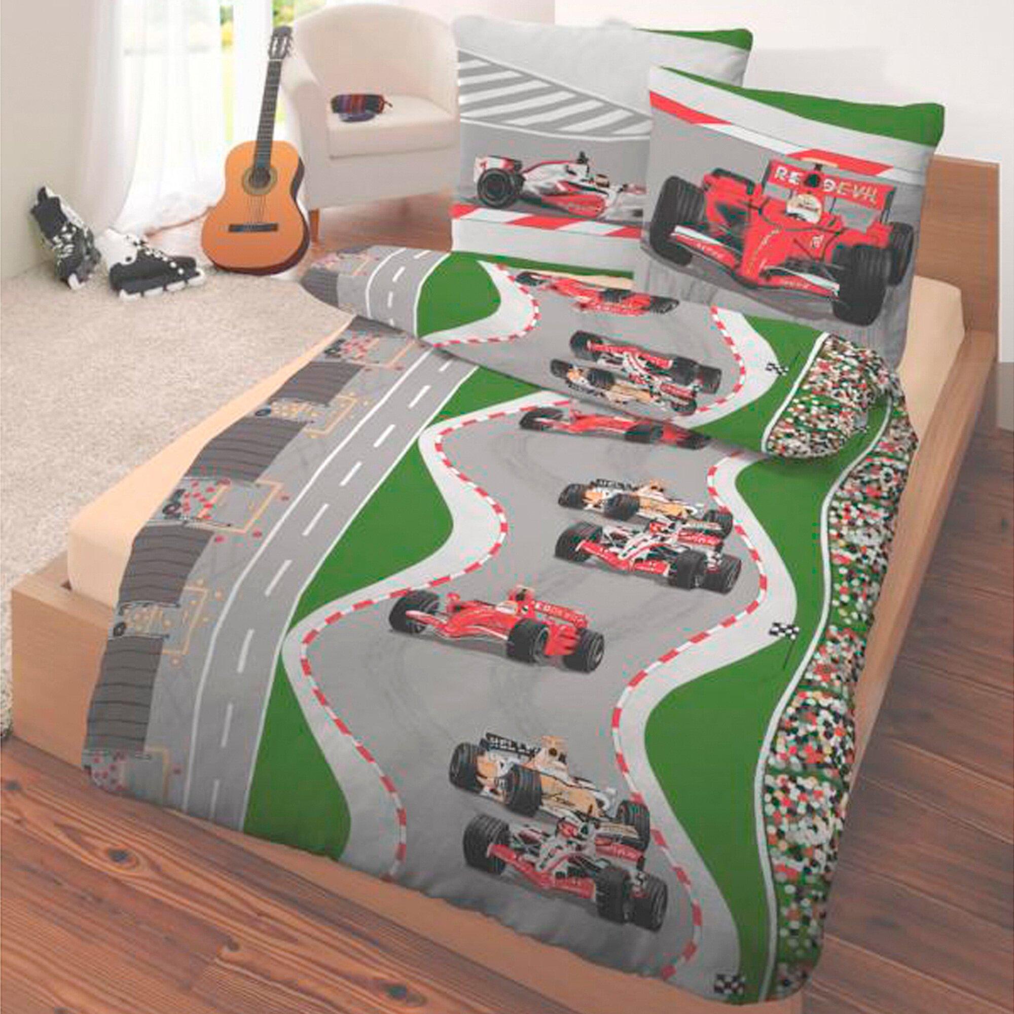 renforc bettw sche rennwagen. Black Bedroom Furniture Sets. Home Design Ideas