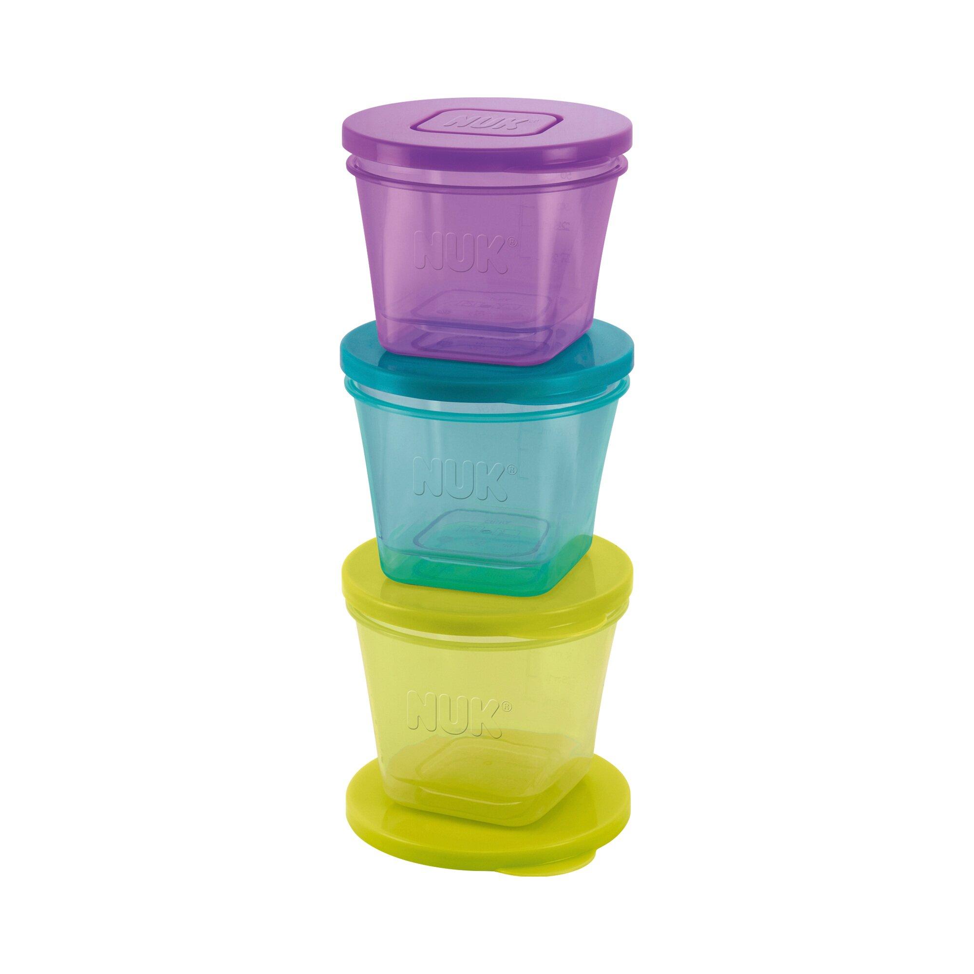 Nuk 6tlg. Behälter-Set für Babynahrung Fresh Foods 65-85ml mit Gefrierfunktion, mikrowellengeeignet
