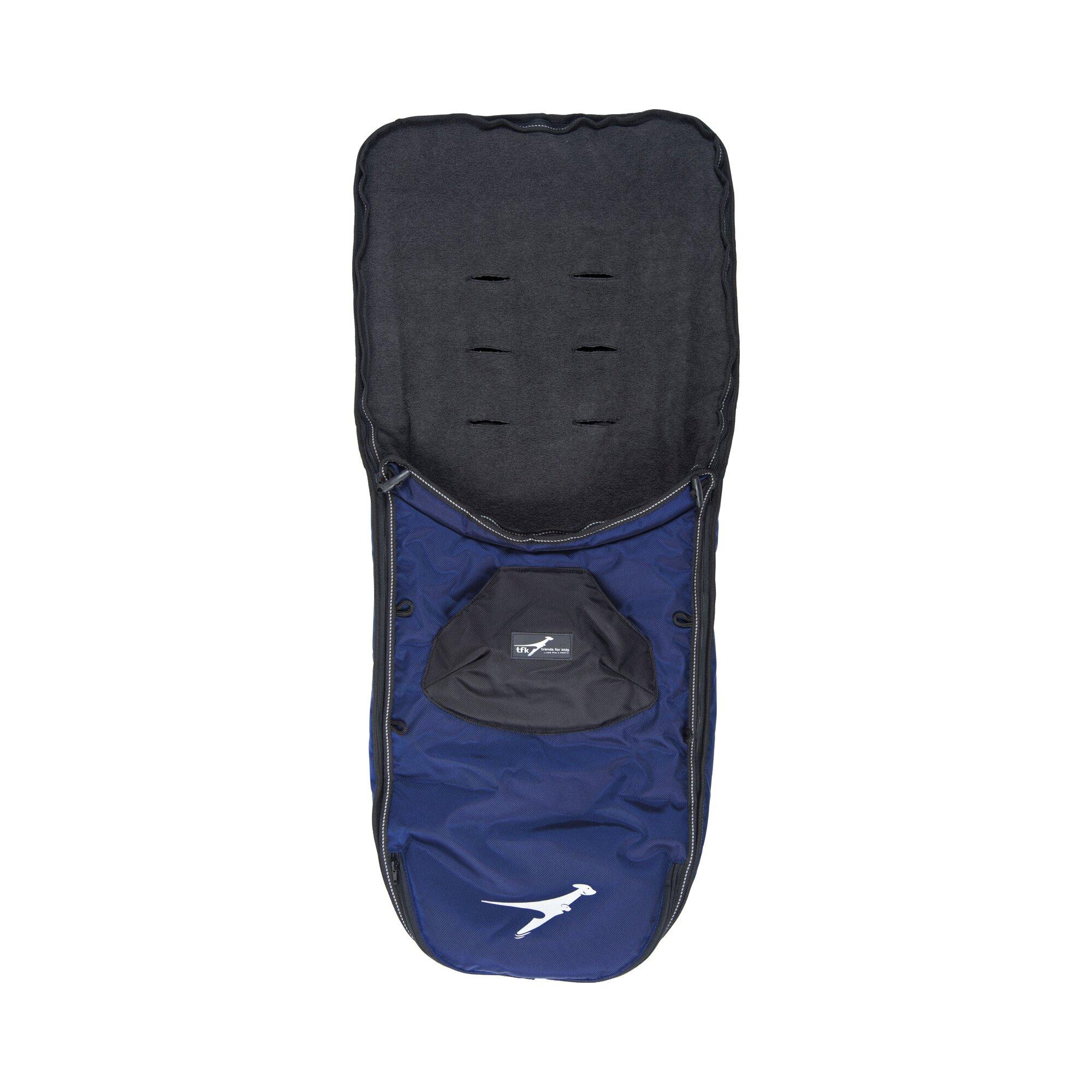 Tfk Winter-Fußsack für Kinderwagen Sportwagen Joggster III, Joggster Twist, Twinner Twist, Buggster S, Joggster X, X II blau