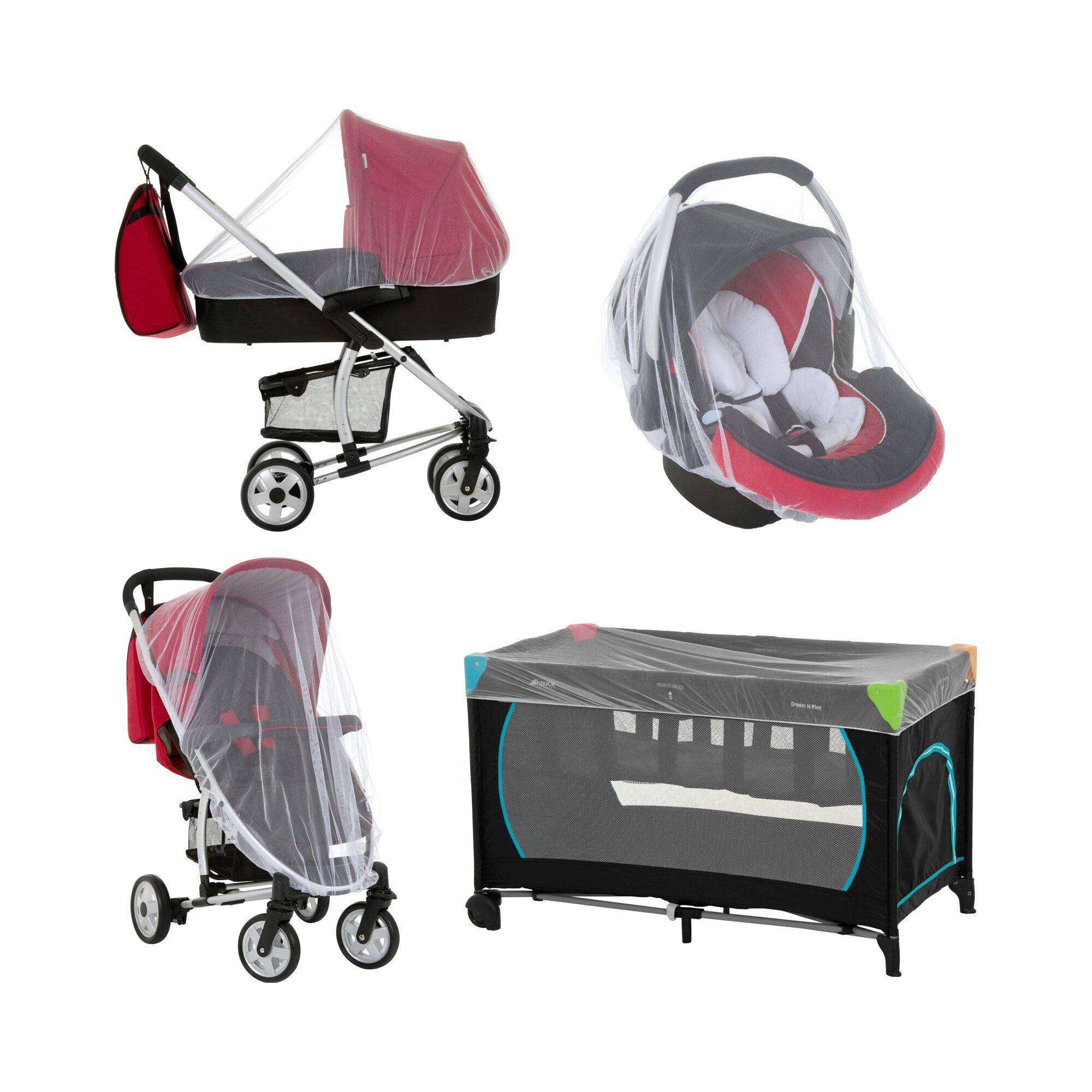 Hauck Universal-Insektenschutz Protect me für Babyschale, Reisbett und Kinderwagen weiss