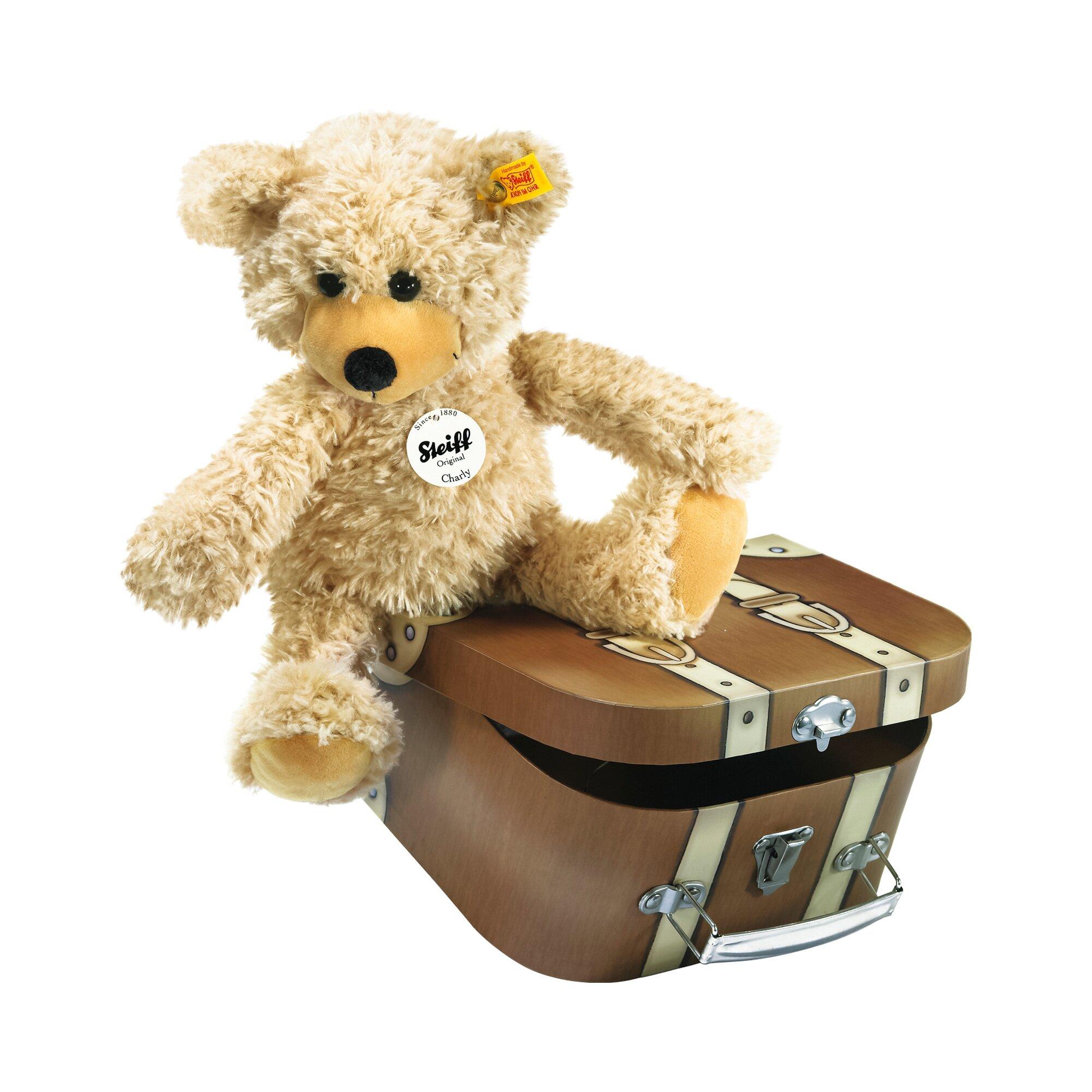 Steiff Teddybär Charly im Koffer 30 cm