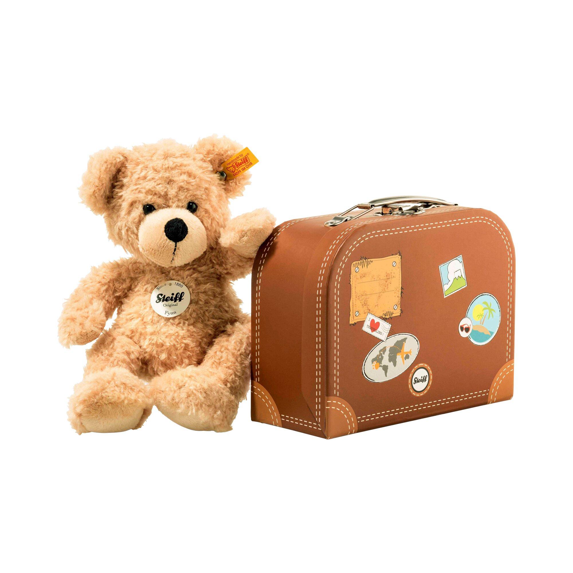 Steiff Teddybär Fynn im Koffer 28cm
