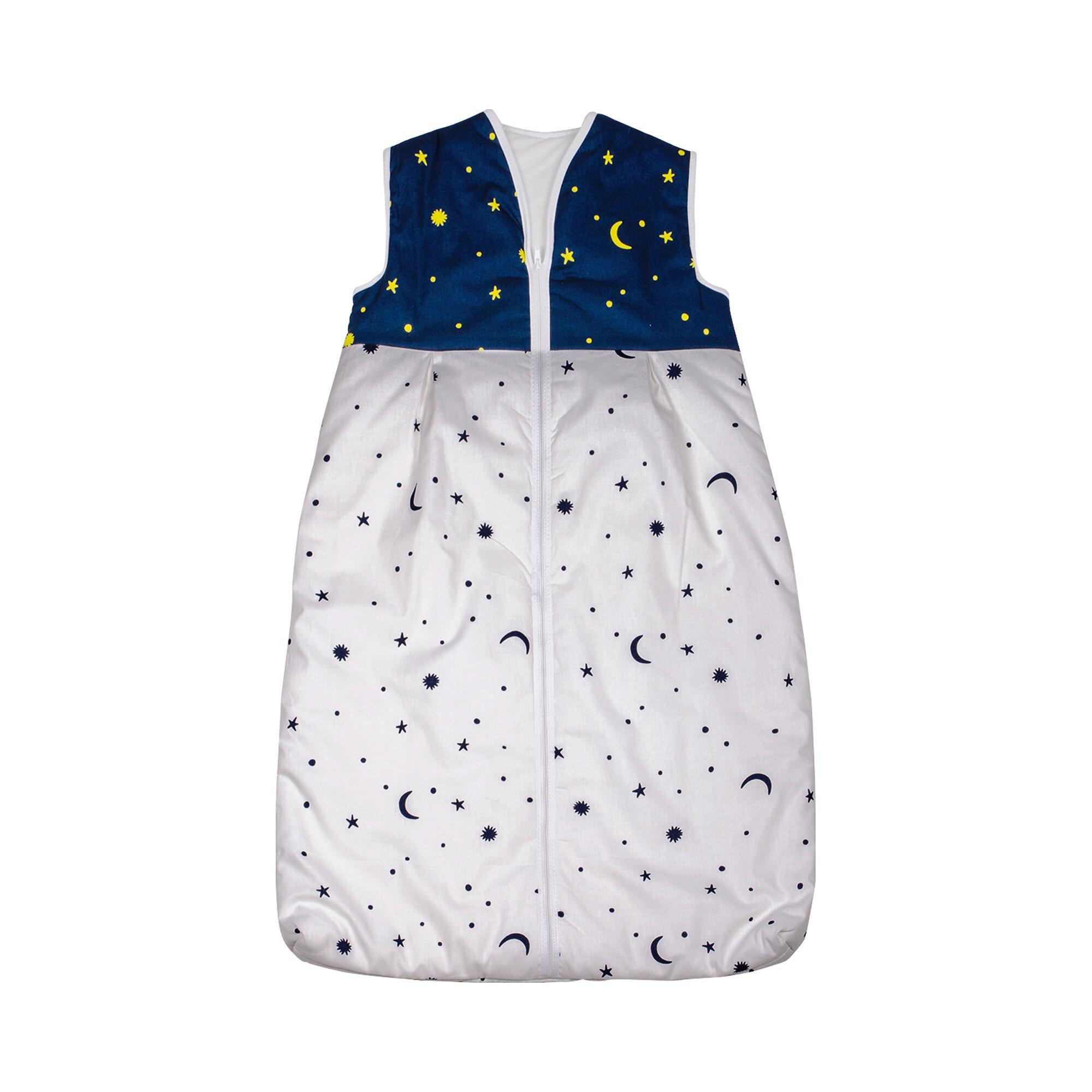 Bornino Home Ganzjahresschlafsack Tencel® Mond- und Sterne