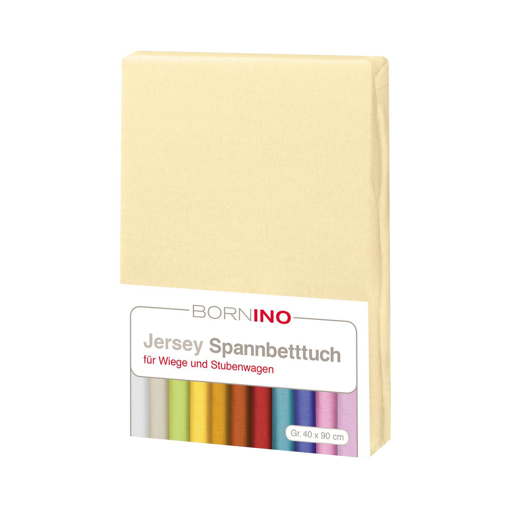 Bornino Home Jersey-Spannbetttuch 40x90 cm gelb