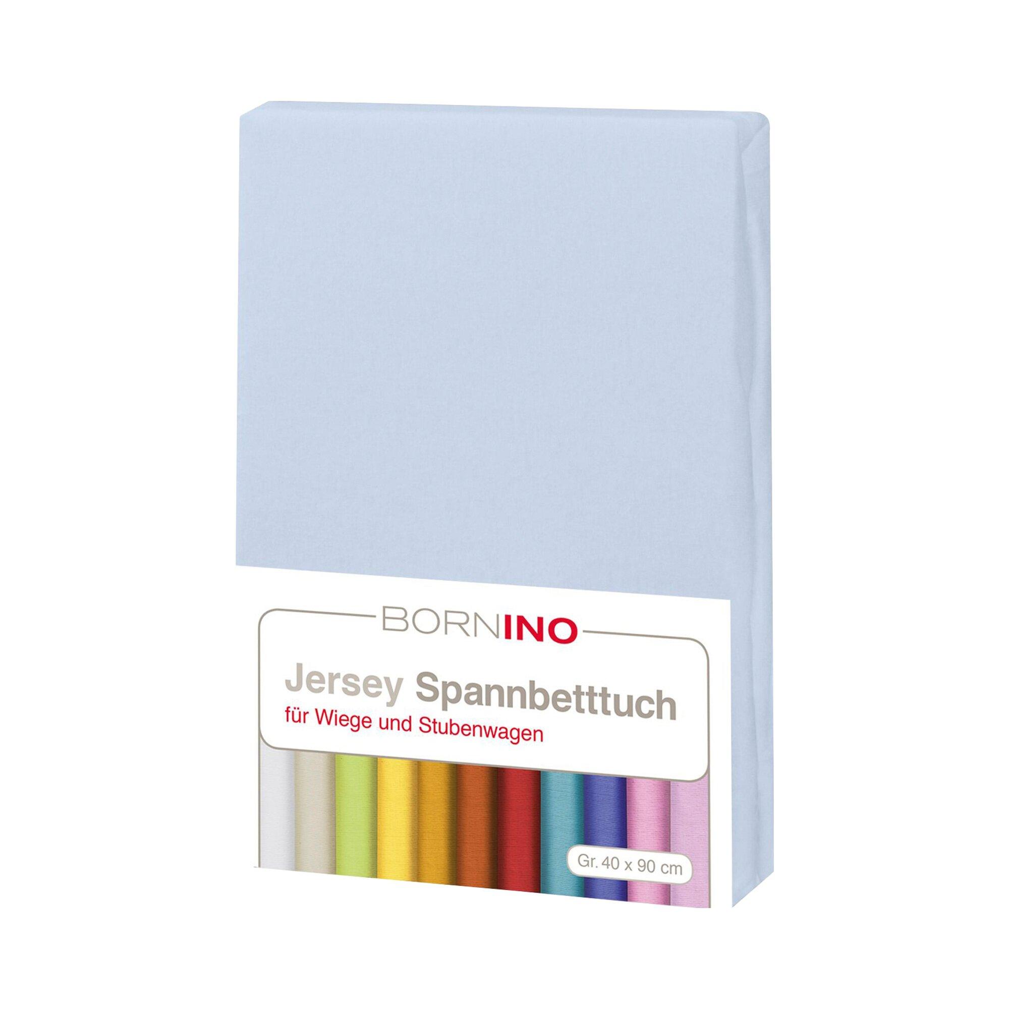Bornino Home Jersey-Spannbetttuch 40x90 cm blau