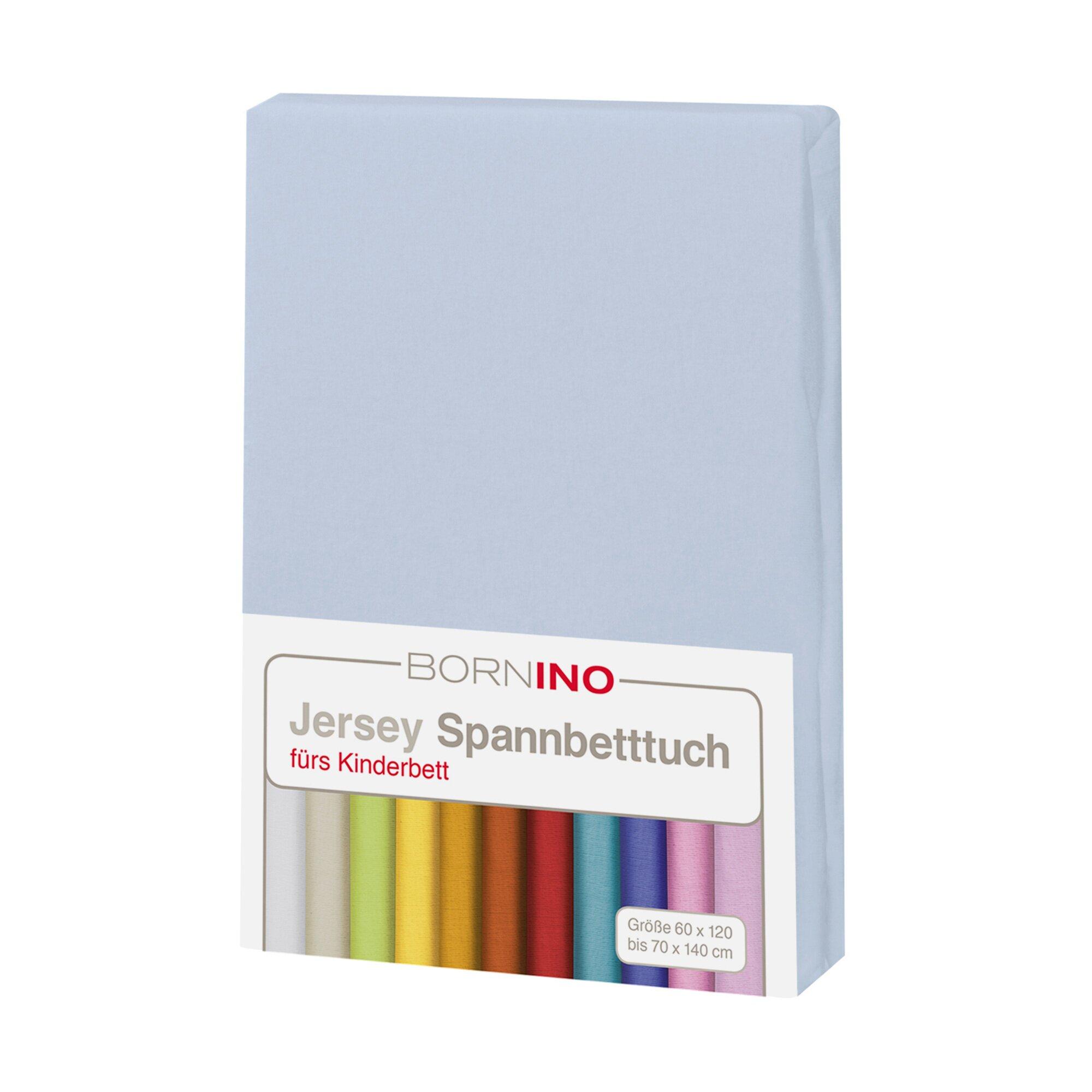 Bornino Home Jersey-Spannbetttuch 70x140 cm blau