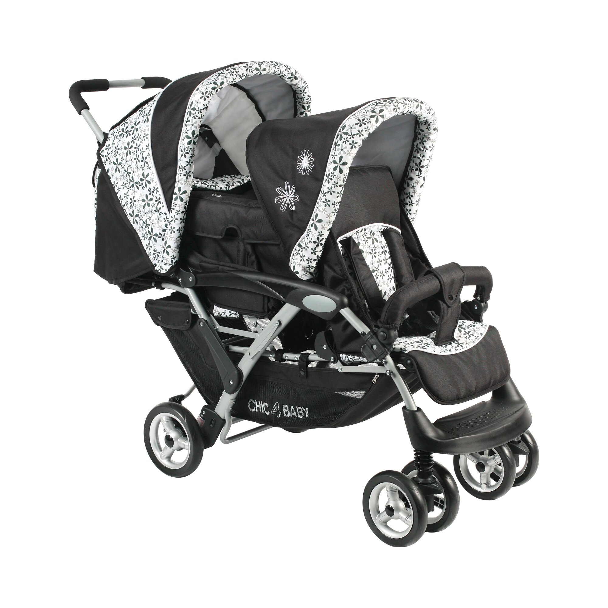 chic-4-baby-duo-zwillings-und-kinderwagen-geschwisterwagen-mit-tragetasche-mehrfarbig, 349.00 EUR @ babywalz-de