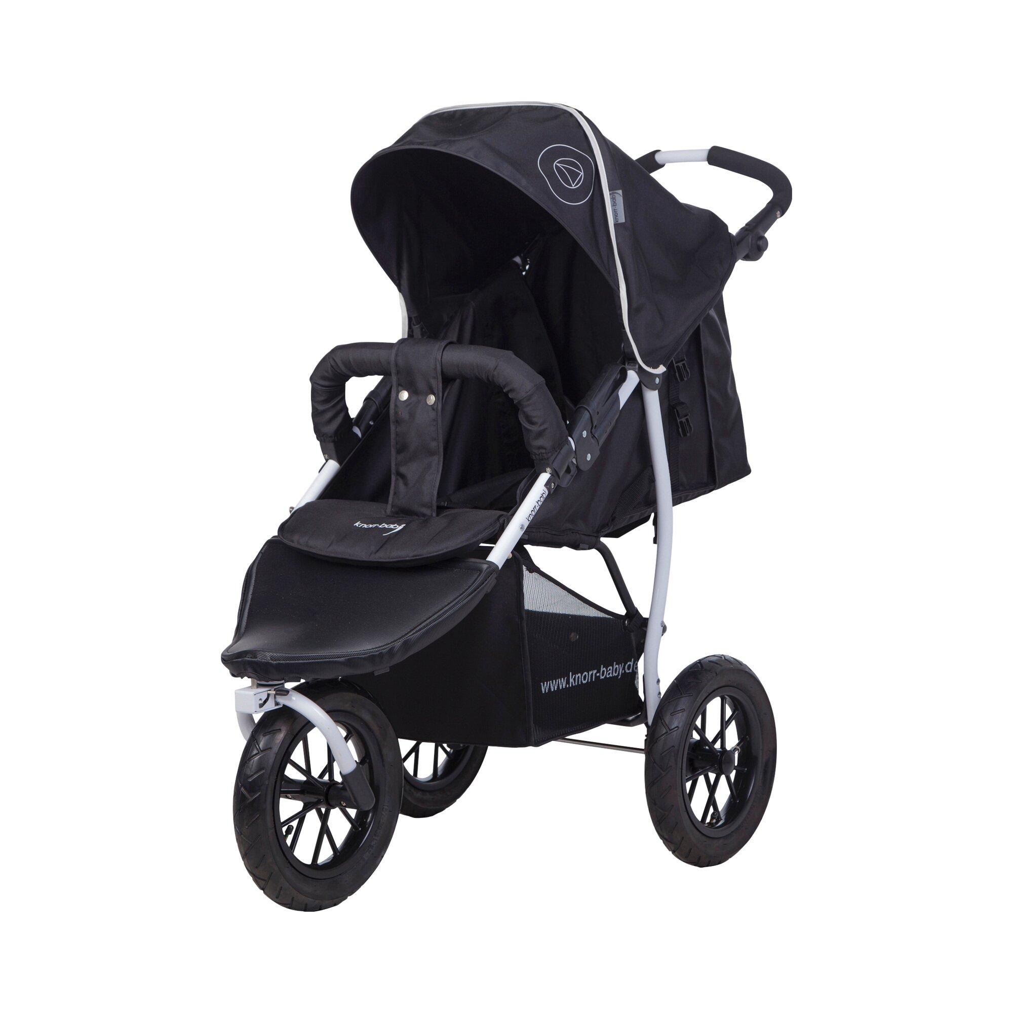 Knorr-Baby Joggy S Happy Colour Kinderwagen Sportwagen mit Schlummerverdeck schwarz